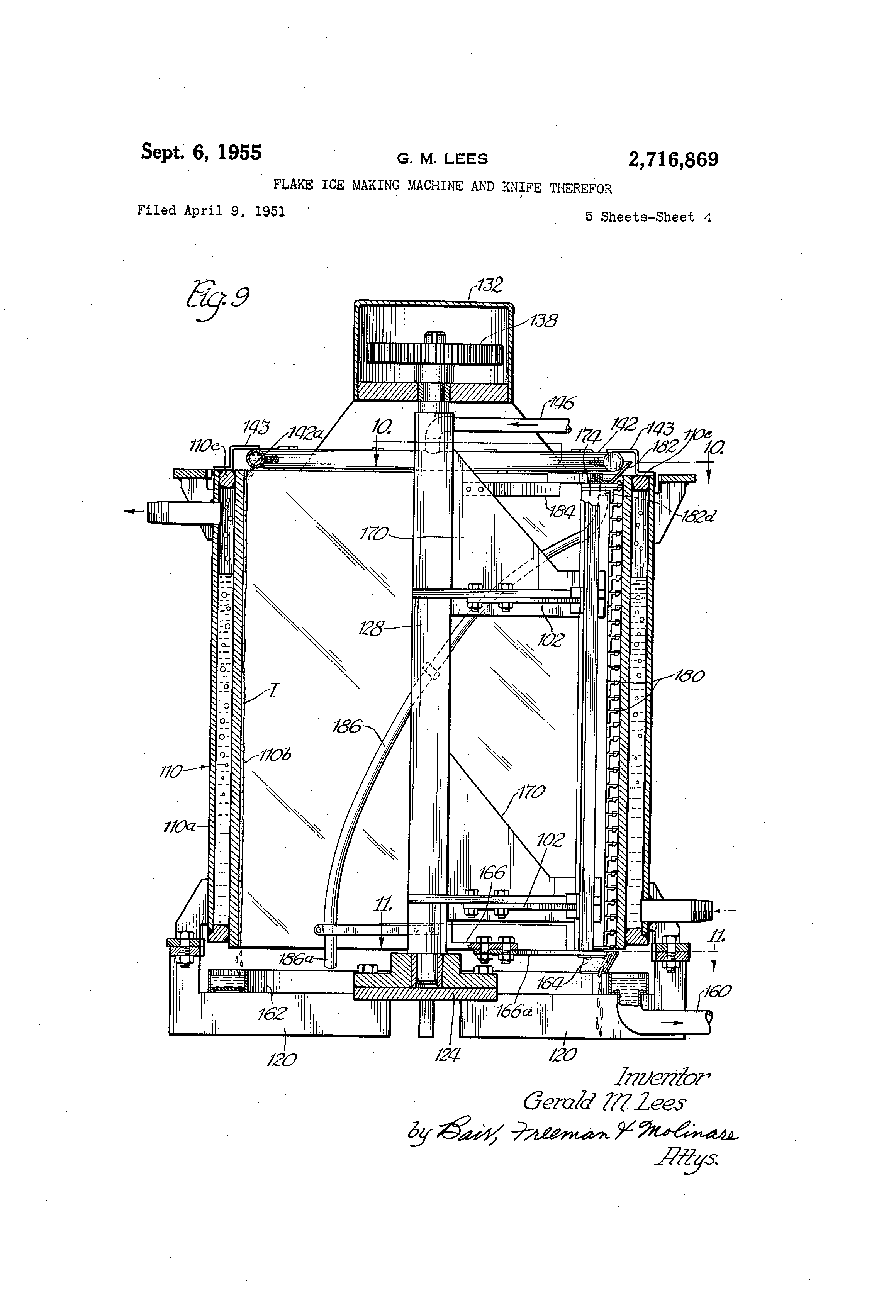 Schaltplang Flake Ice Machine Auto Electrical Wiring Diagram Ducati 999 Patent Us2716869