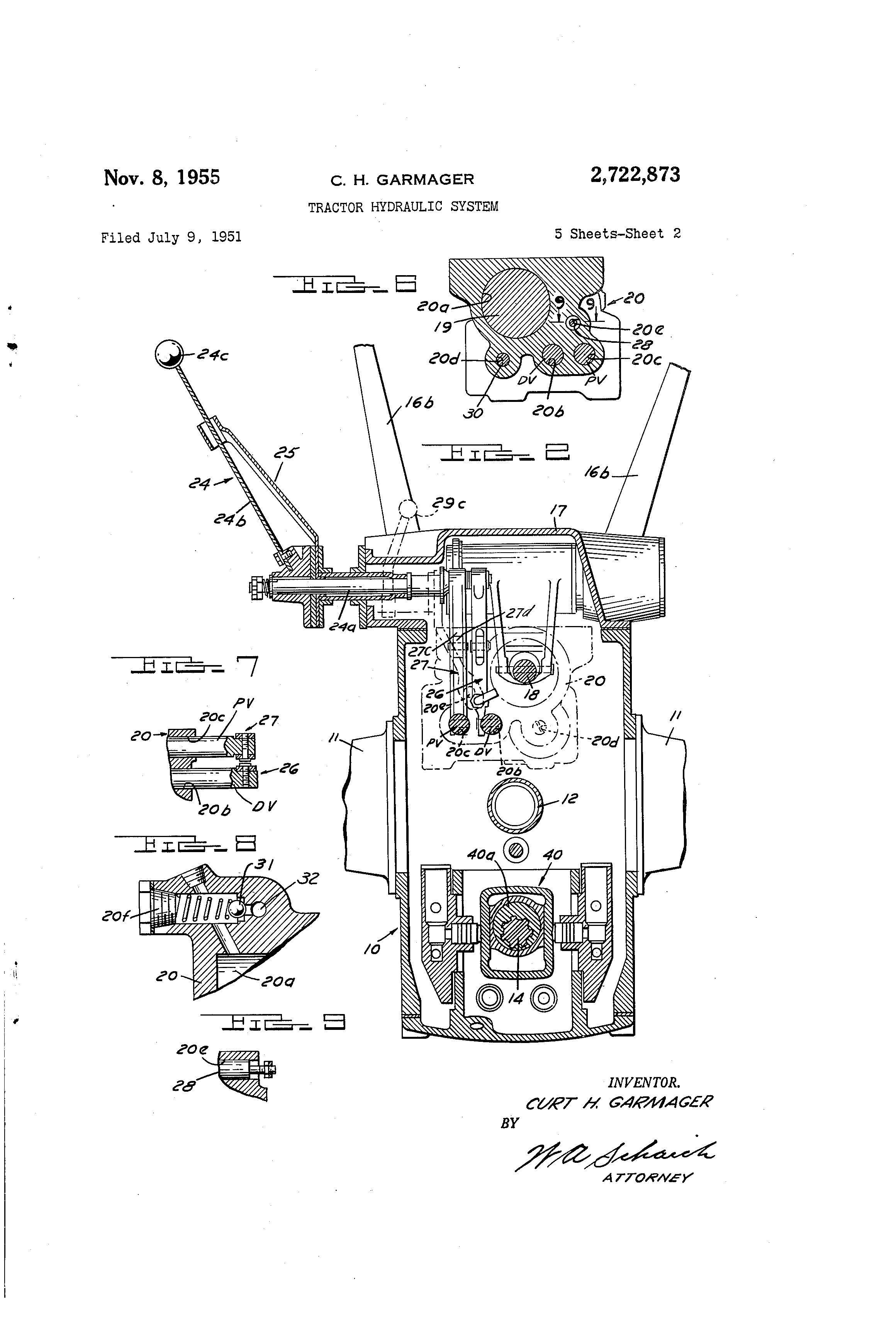 Tractor Hydraulic System Diagram Great Design Of Wiring Ford 1910 White Pump 5000 Diesel