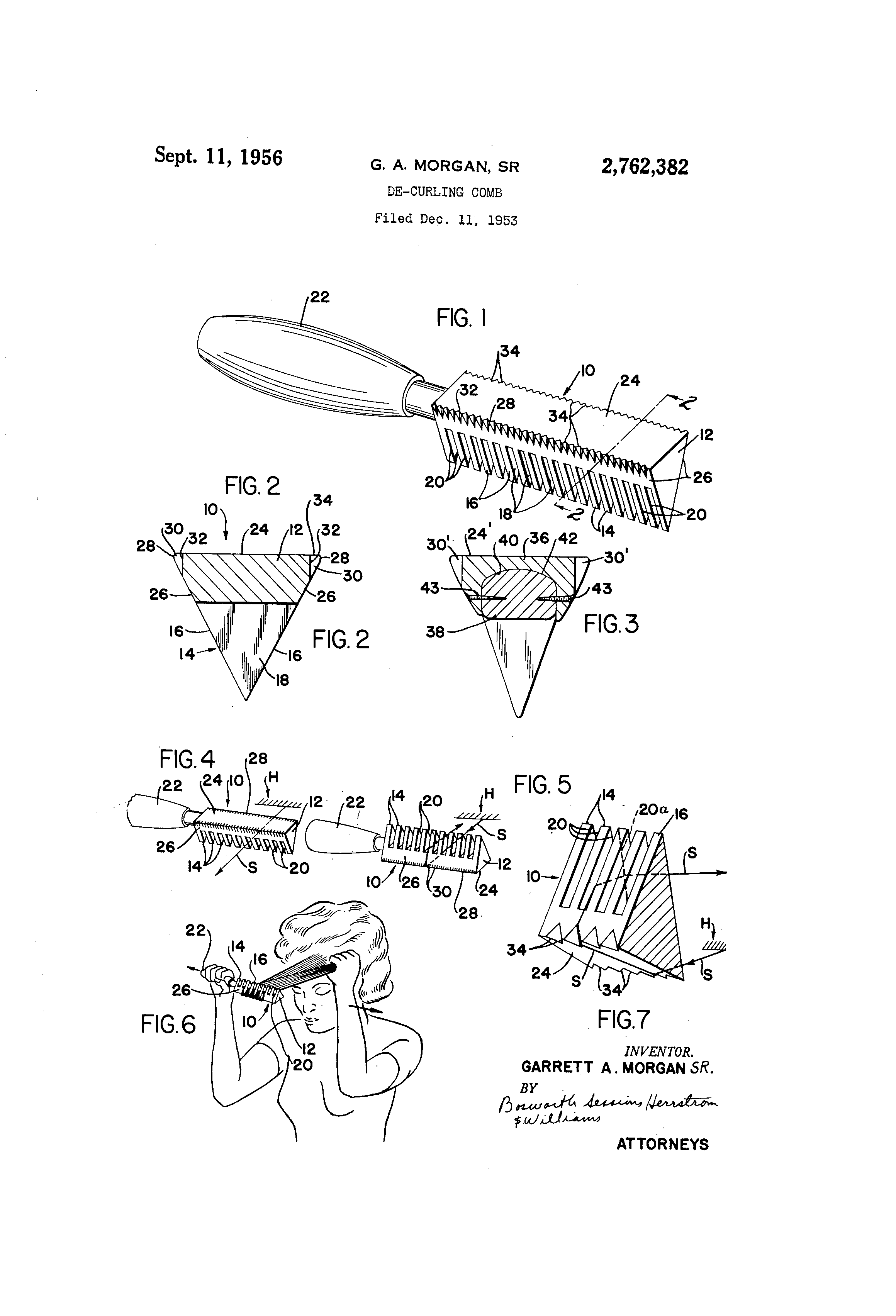 Patent Us2762382 De Curling Comb Google Patents