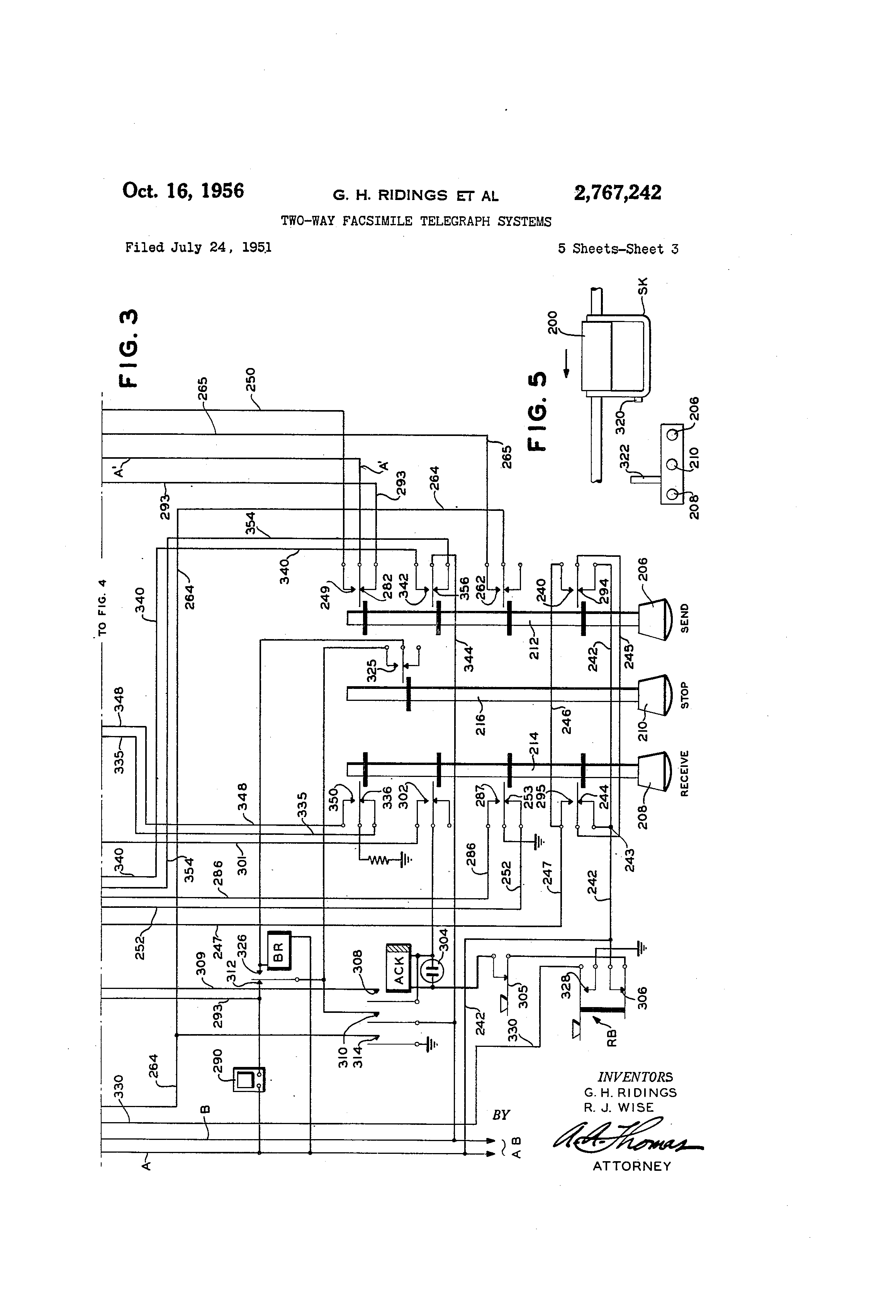 patent us2767242 two way facsimile telegraph systems google patent drawing