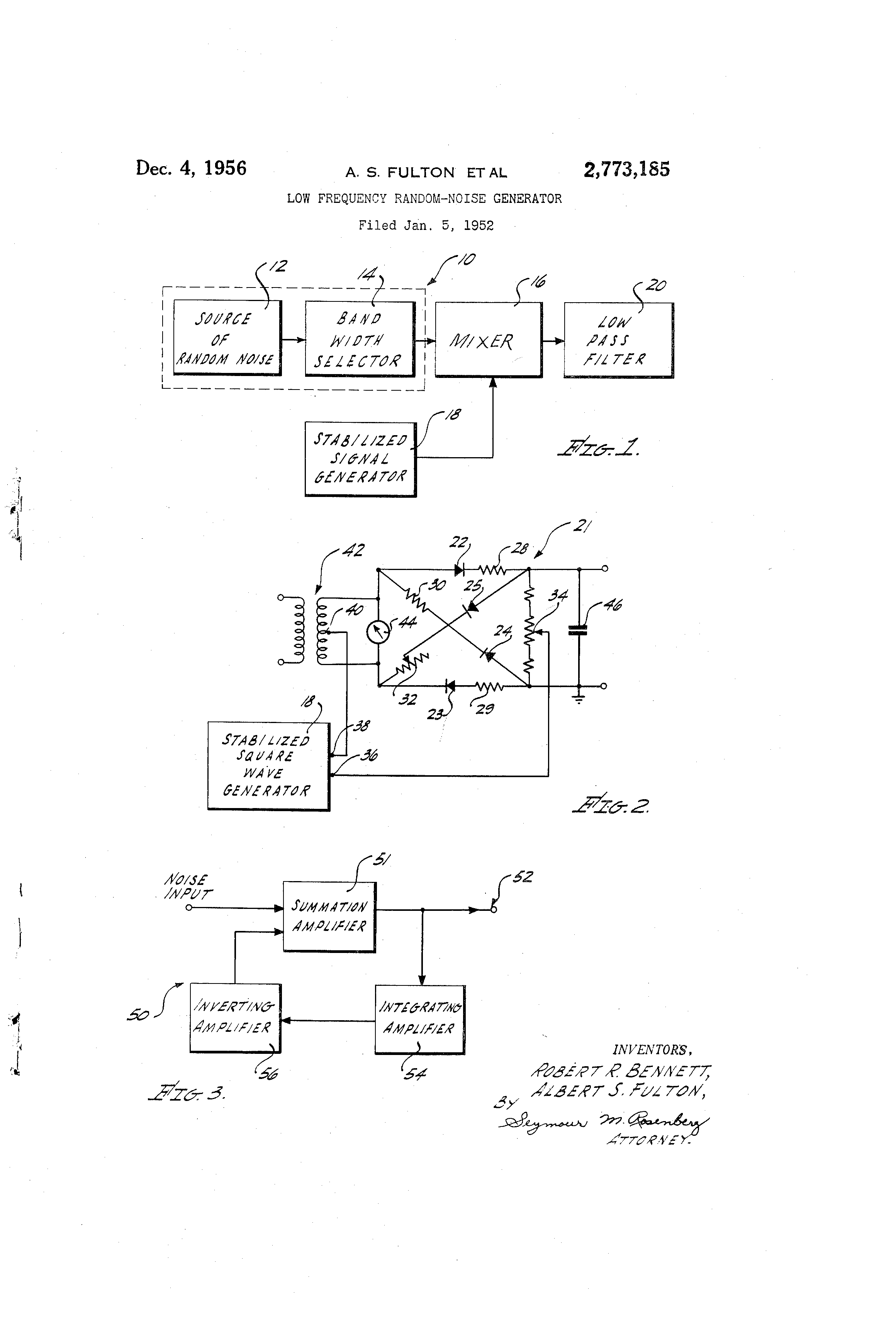 Patent US2773185 - Low frequency random-noise generator - Google Patents
