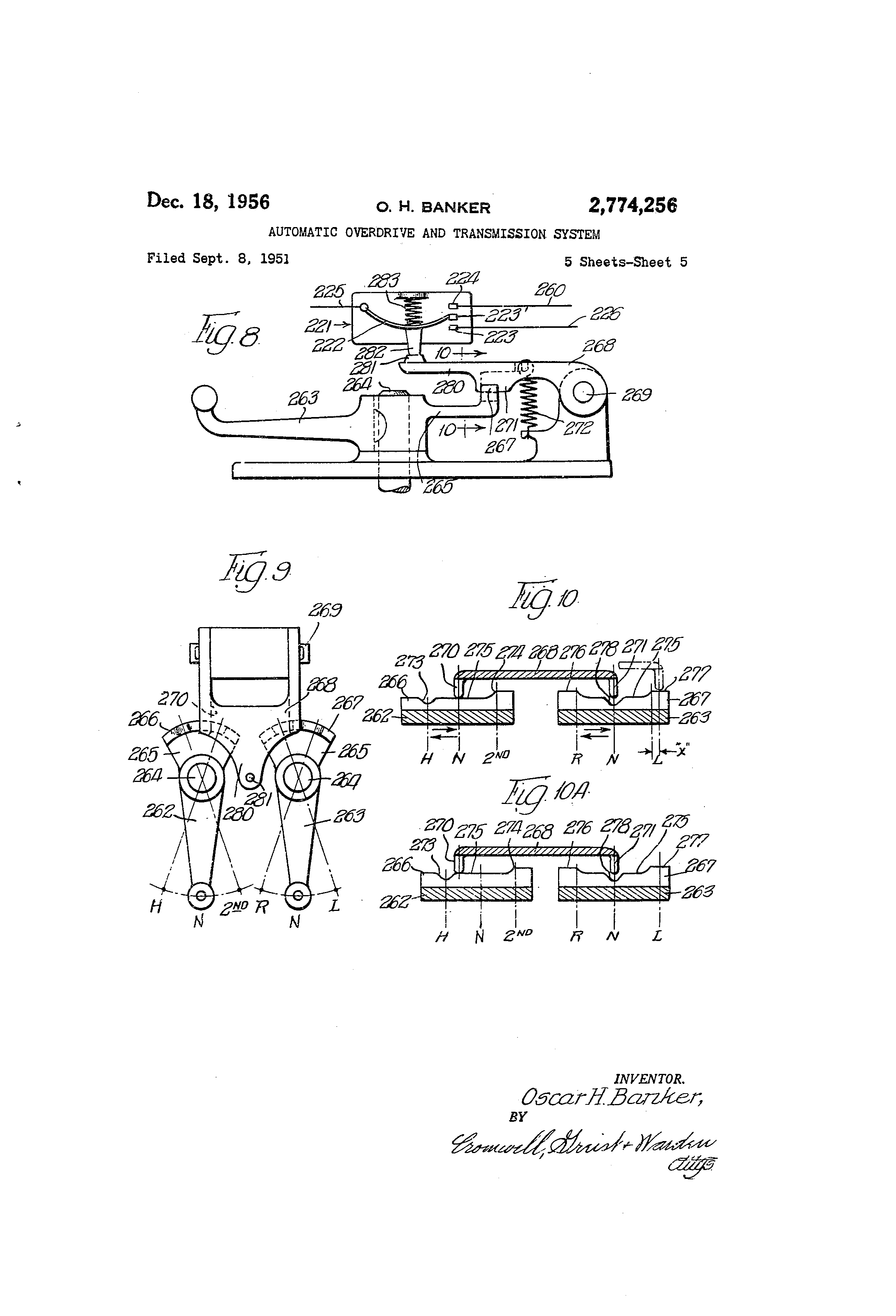 Patent Us2774256 Automatic Overdrive And Transmission System Ignition Circuit Diagram For The 1940 54 Willys 4 Cylinder Drawing