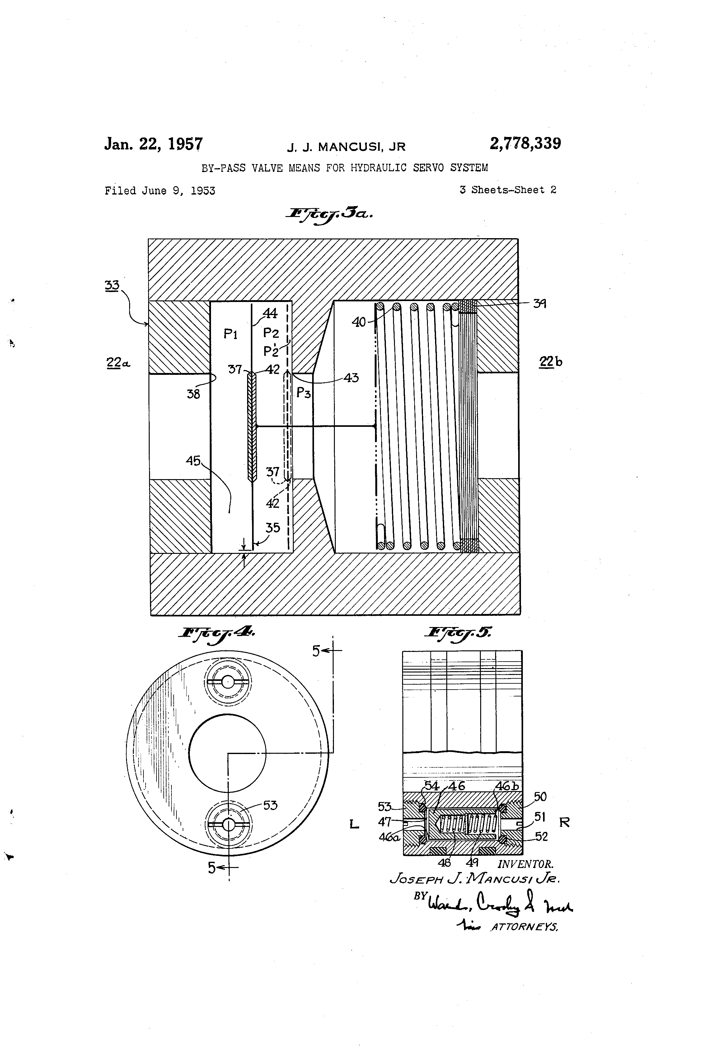 Patent Us2778339 By Pass Valve Means For Hydraulic Servo System 4 7l Engine Diagram Drawing