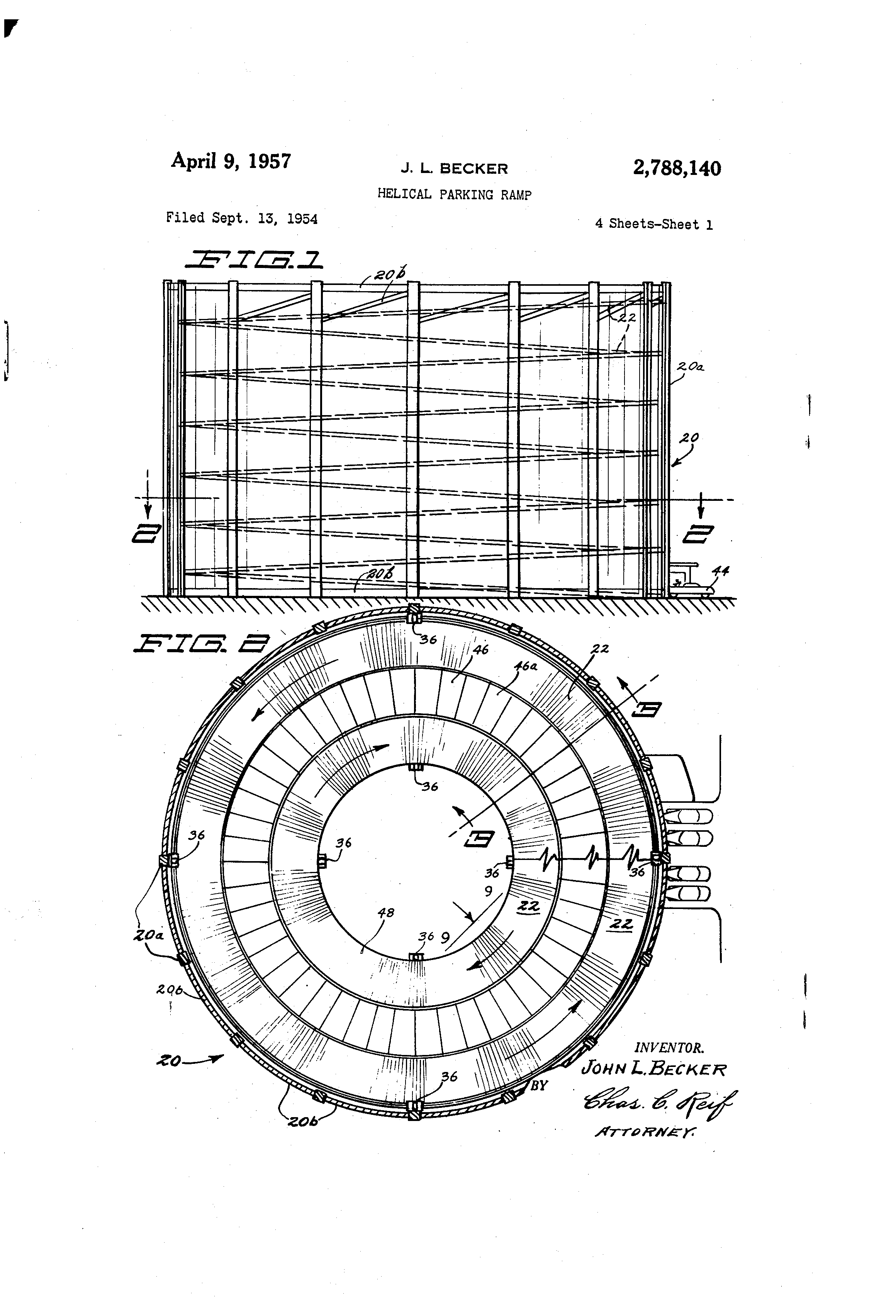 Hong Kong Apartment Floor Plan Patent Us2788140 Helical Parking Ramp Google Patents