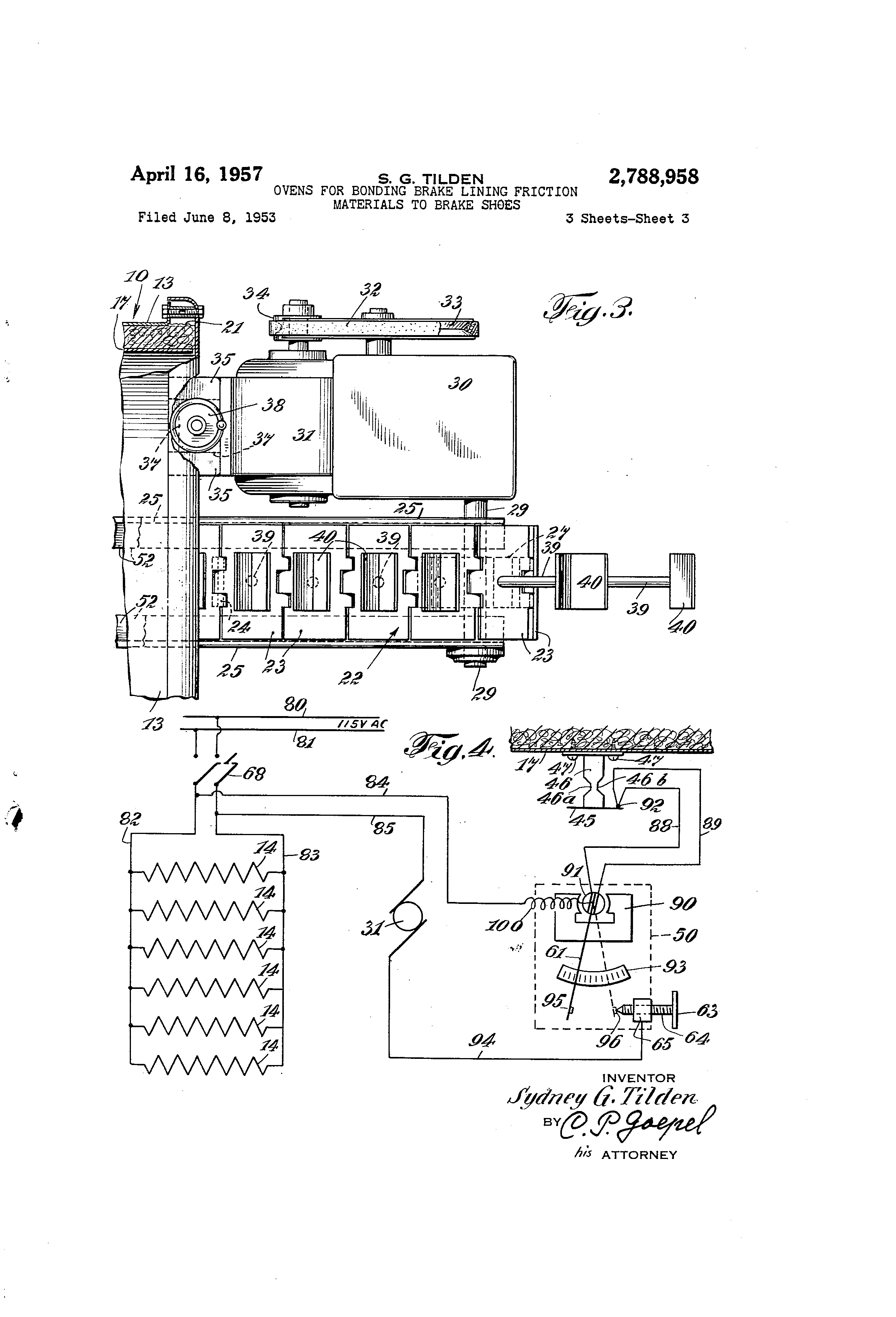 Brake Lining Draw : Patent us ovens for bonding brake lining friction