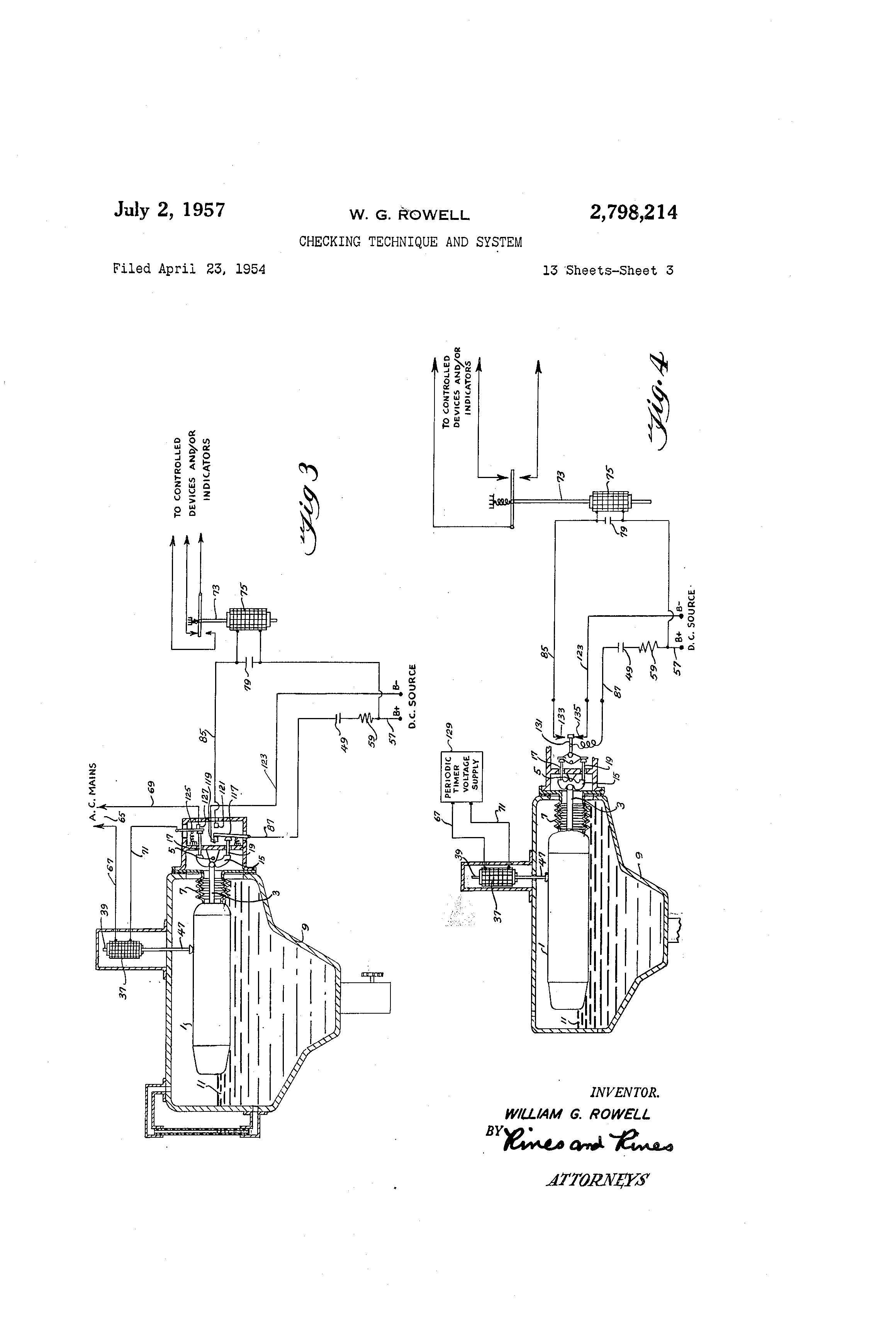Patent Us2798214 Checking Technique And System Google Patents Simple 15v Regulated Power Supply Circuit Powersupplycircuit Drawing