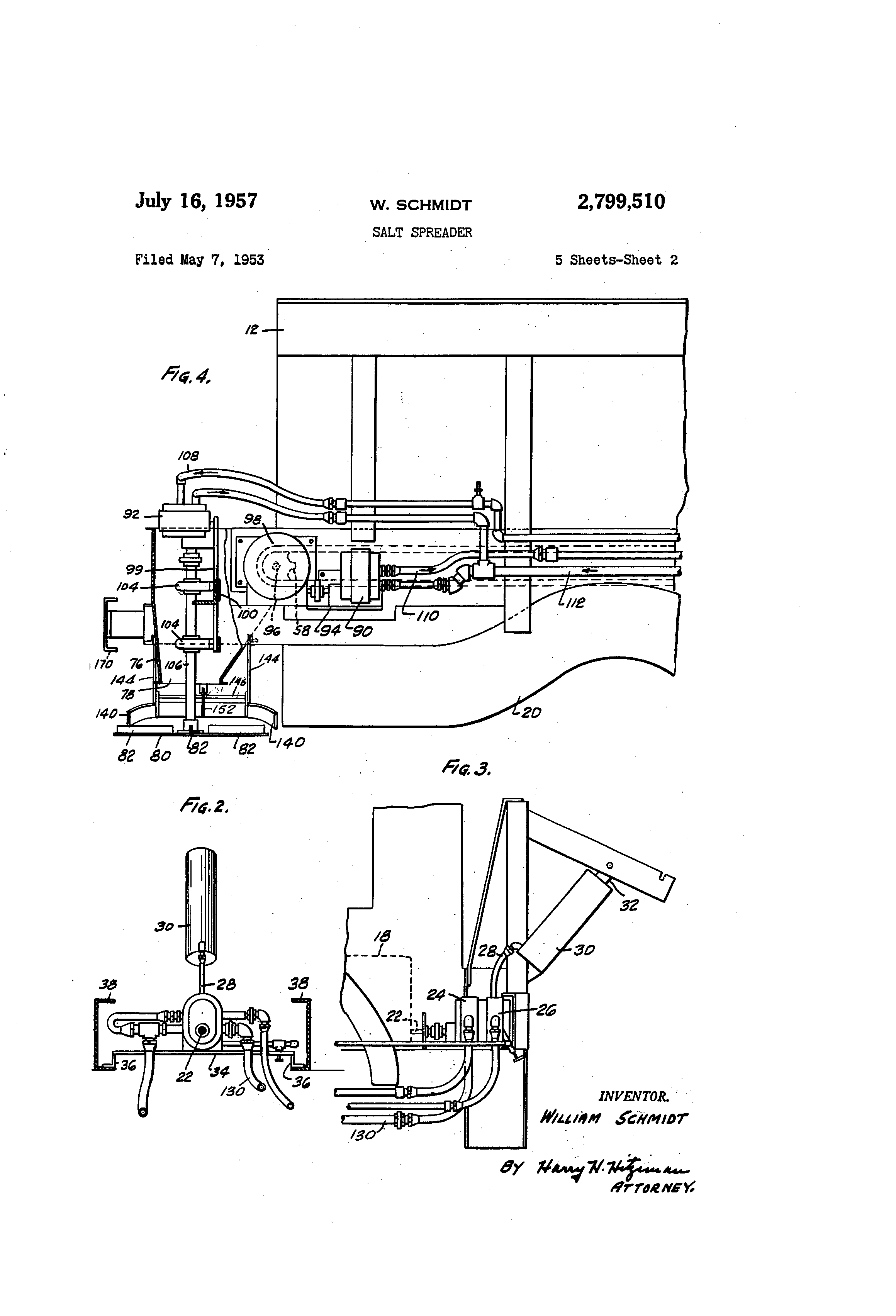 US2799510 1 patent us2799510 salt spreader google patents Snow Plow E60 Wiring-Diagram at bayanpartner.co