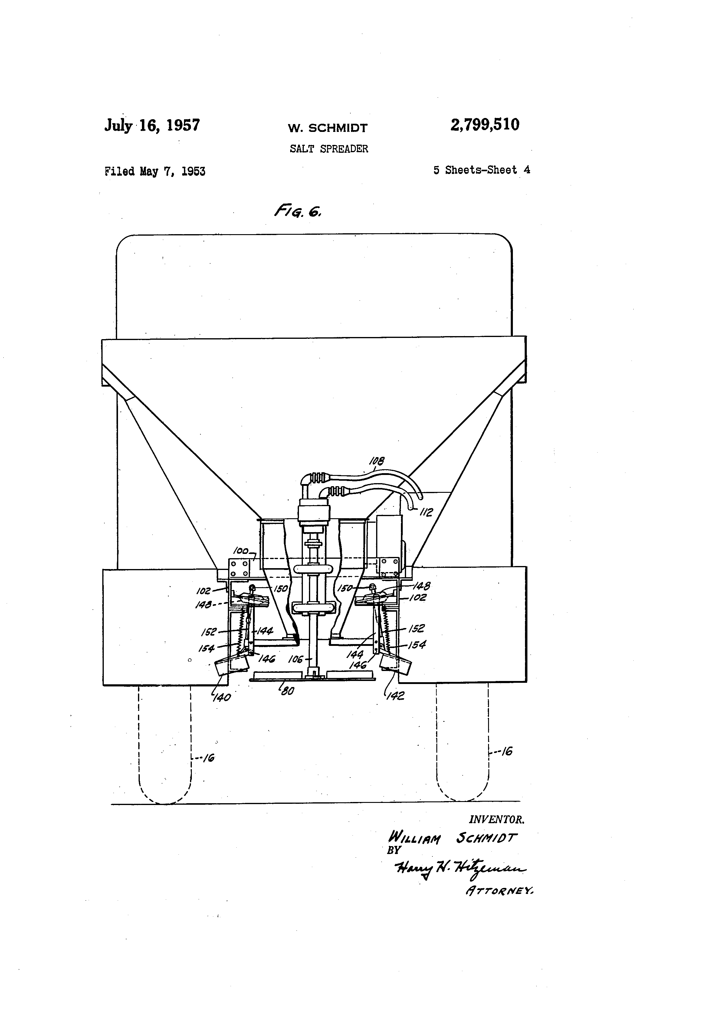 US2799510 3 patent us2799510 salt spreader google patents Snow Plow E60 Wiring-Diagram at bayanpartner.co