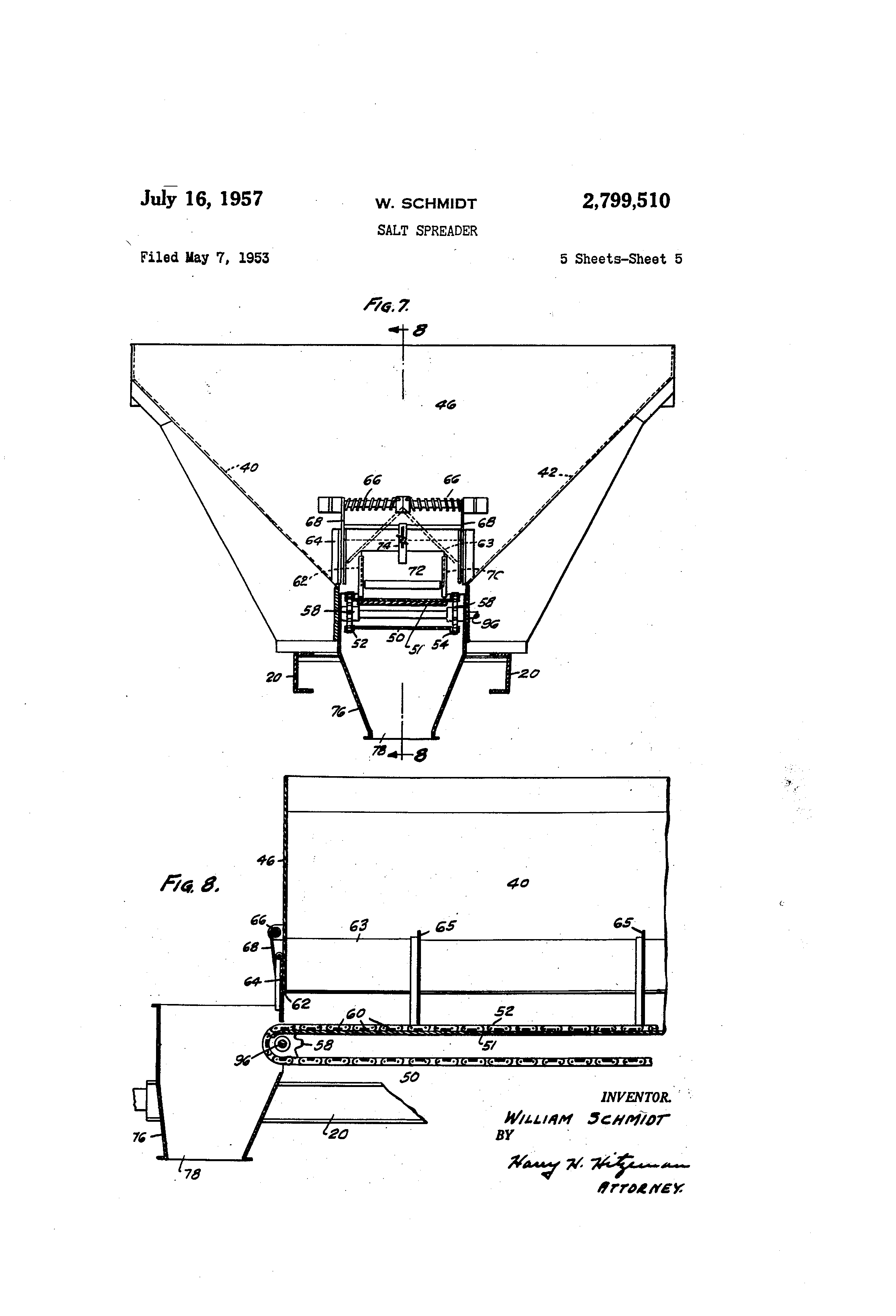 US2799510 4 patent us2799510 salt spreader google patents Snow Plow E60 Wiring-Diagram at bayanpartner.co