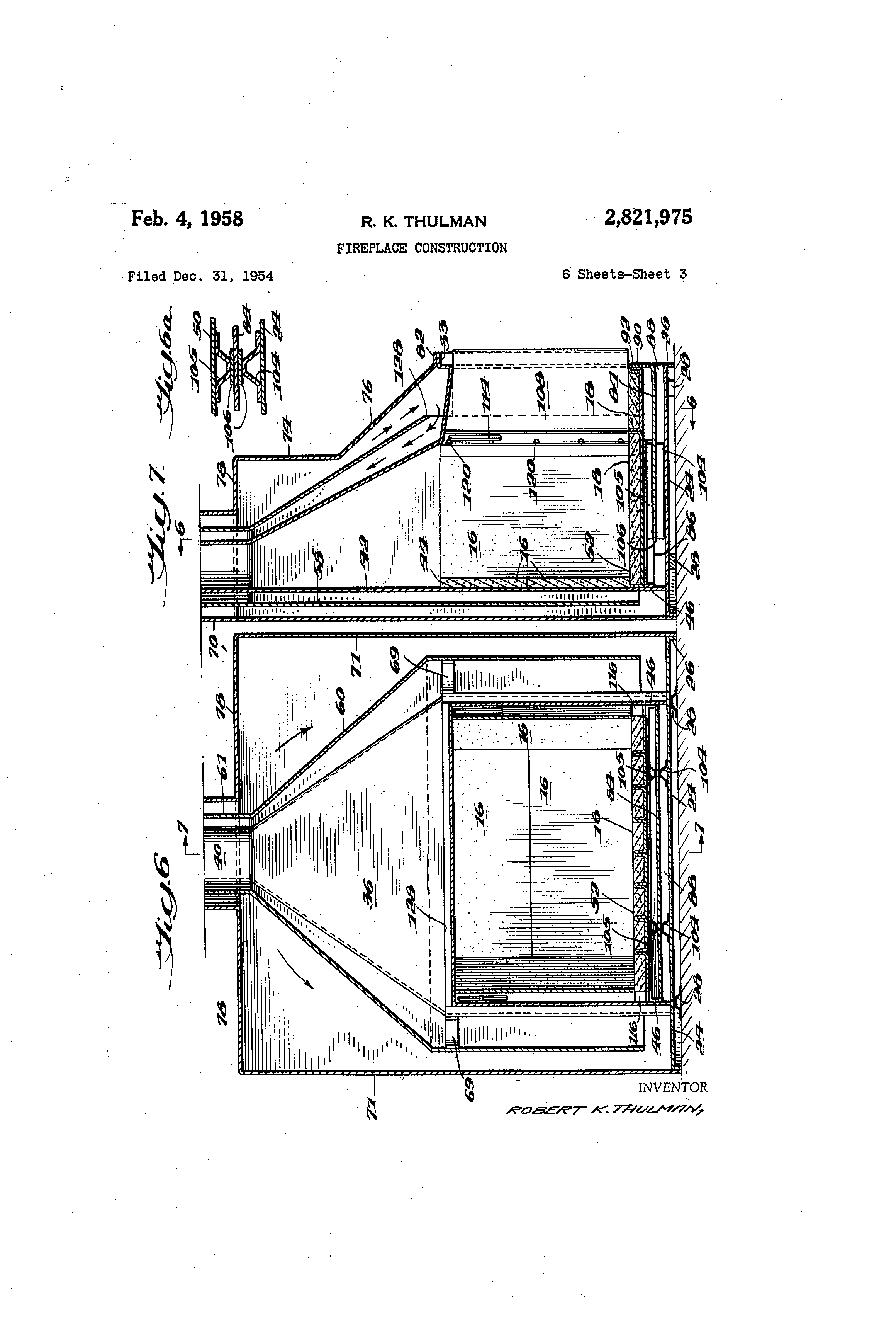 patent us2821975 fireplace construction google patents
