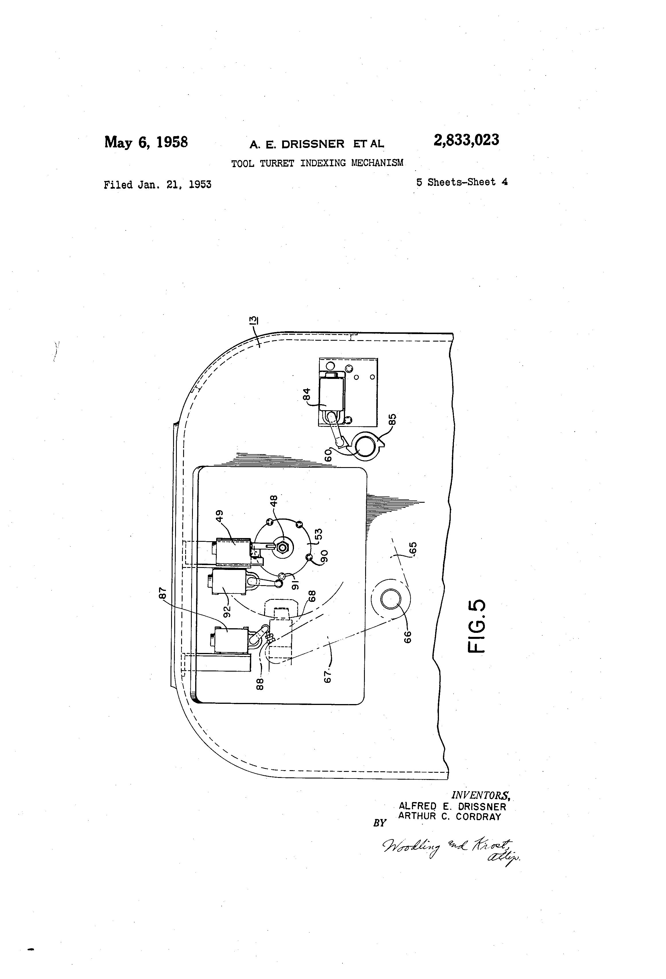 Turret indexing mechanism