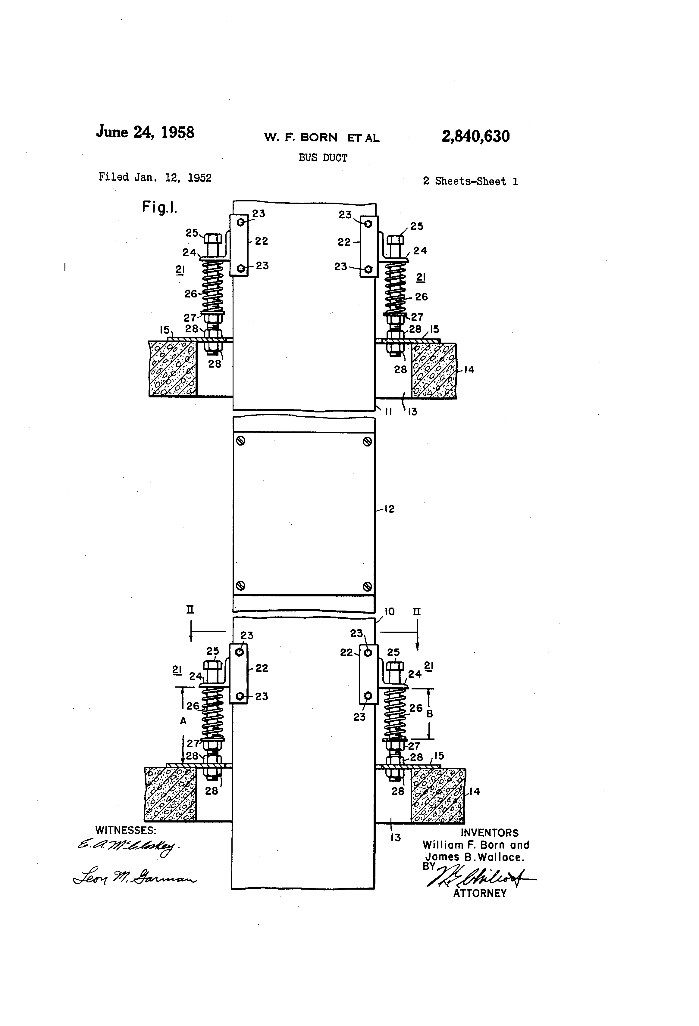 patent us2840630 - bus duct