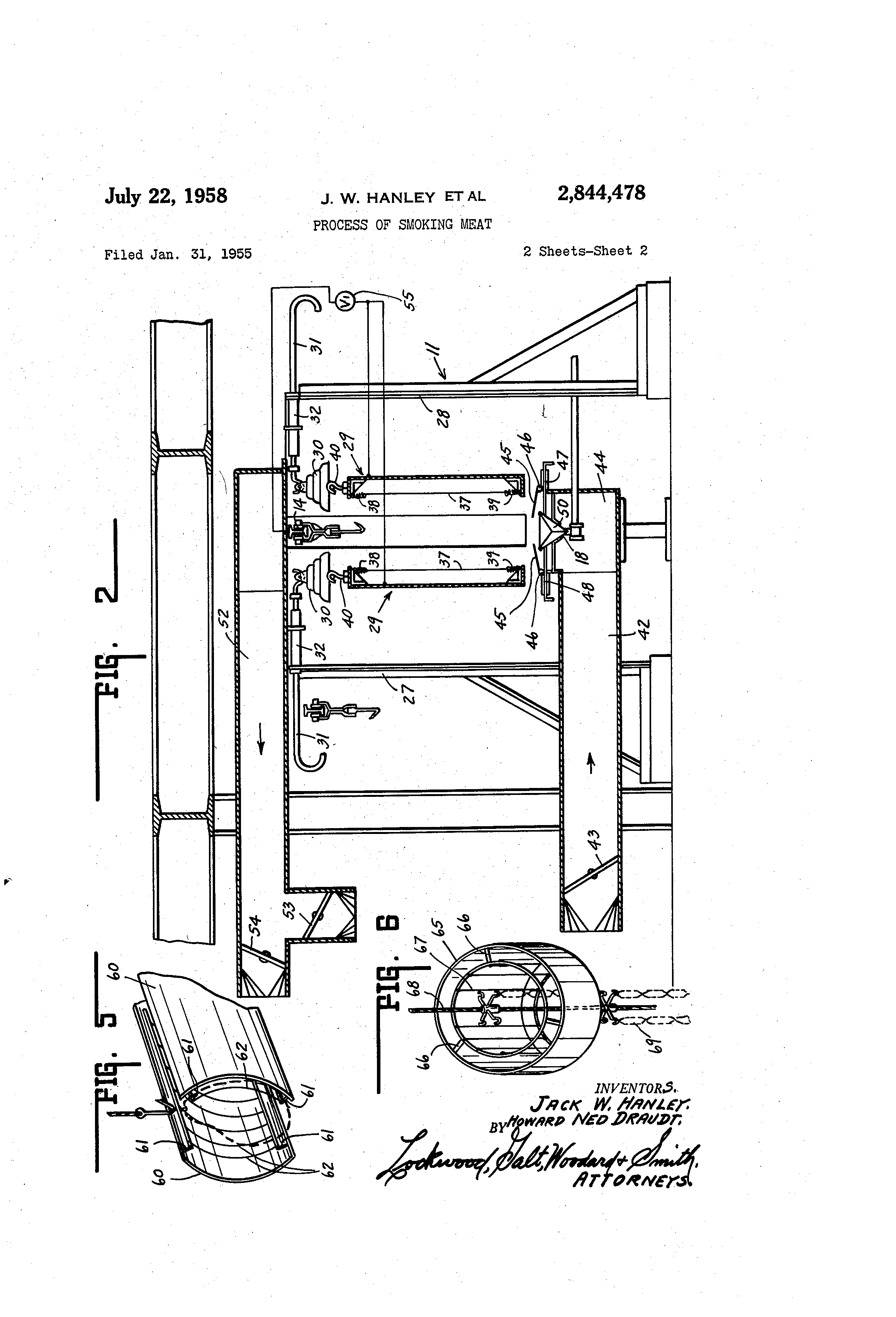 designs diagram of smoking meat