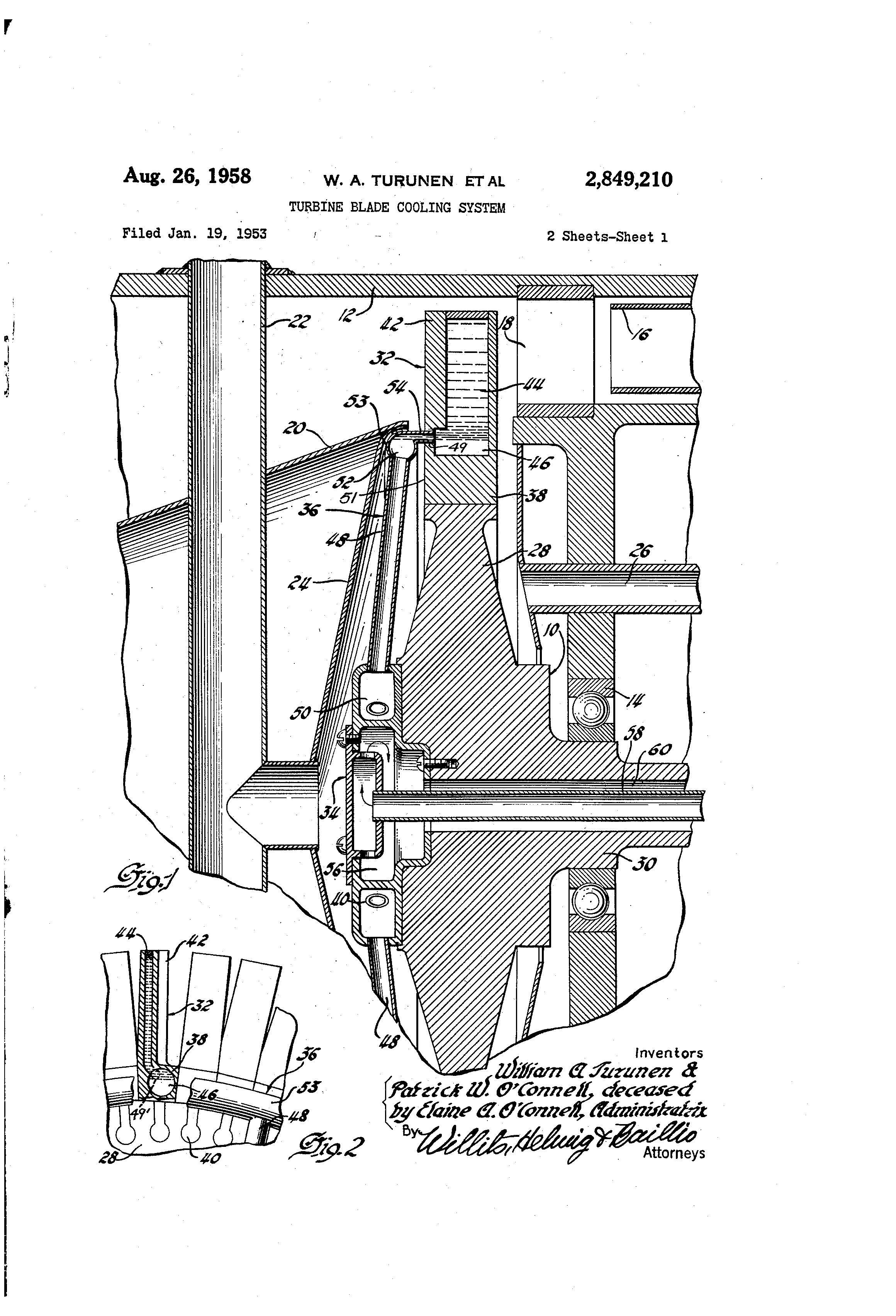 Patent US Turbine blade cooling system Google Patents