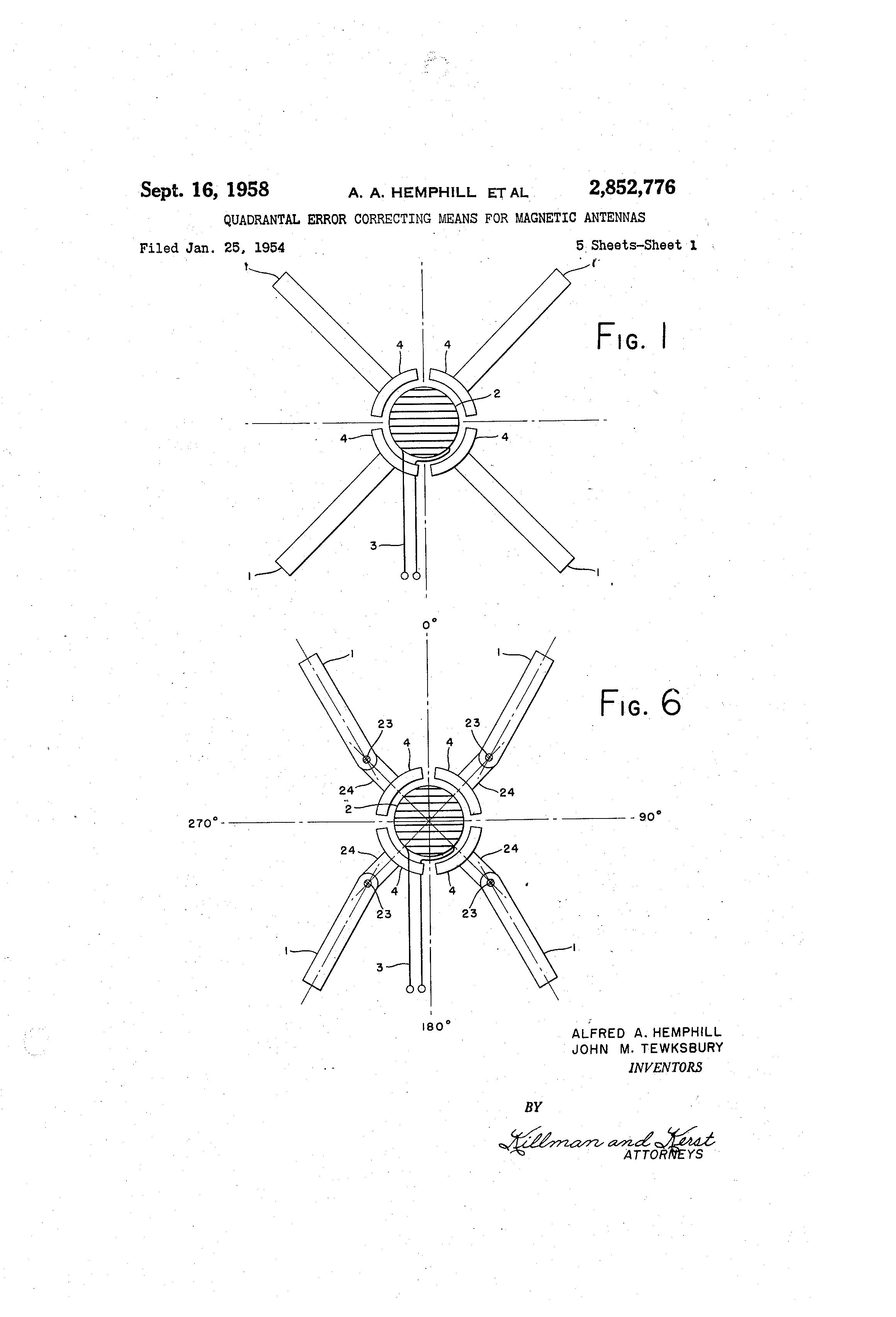 patent us2852776 quadrantal error correcting means for magnetic
