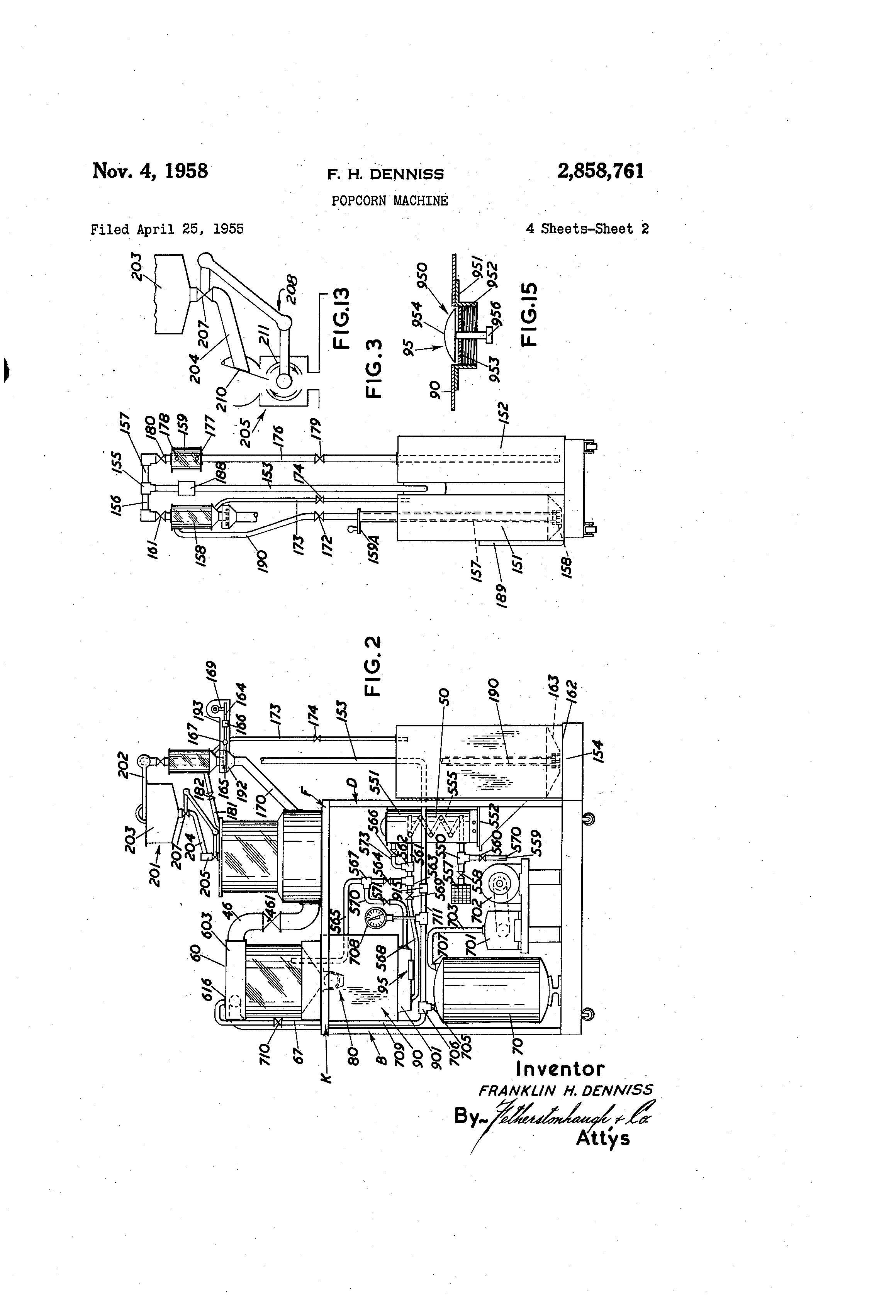 patent us2858761 - popcorn machine