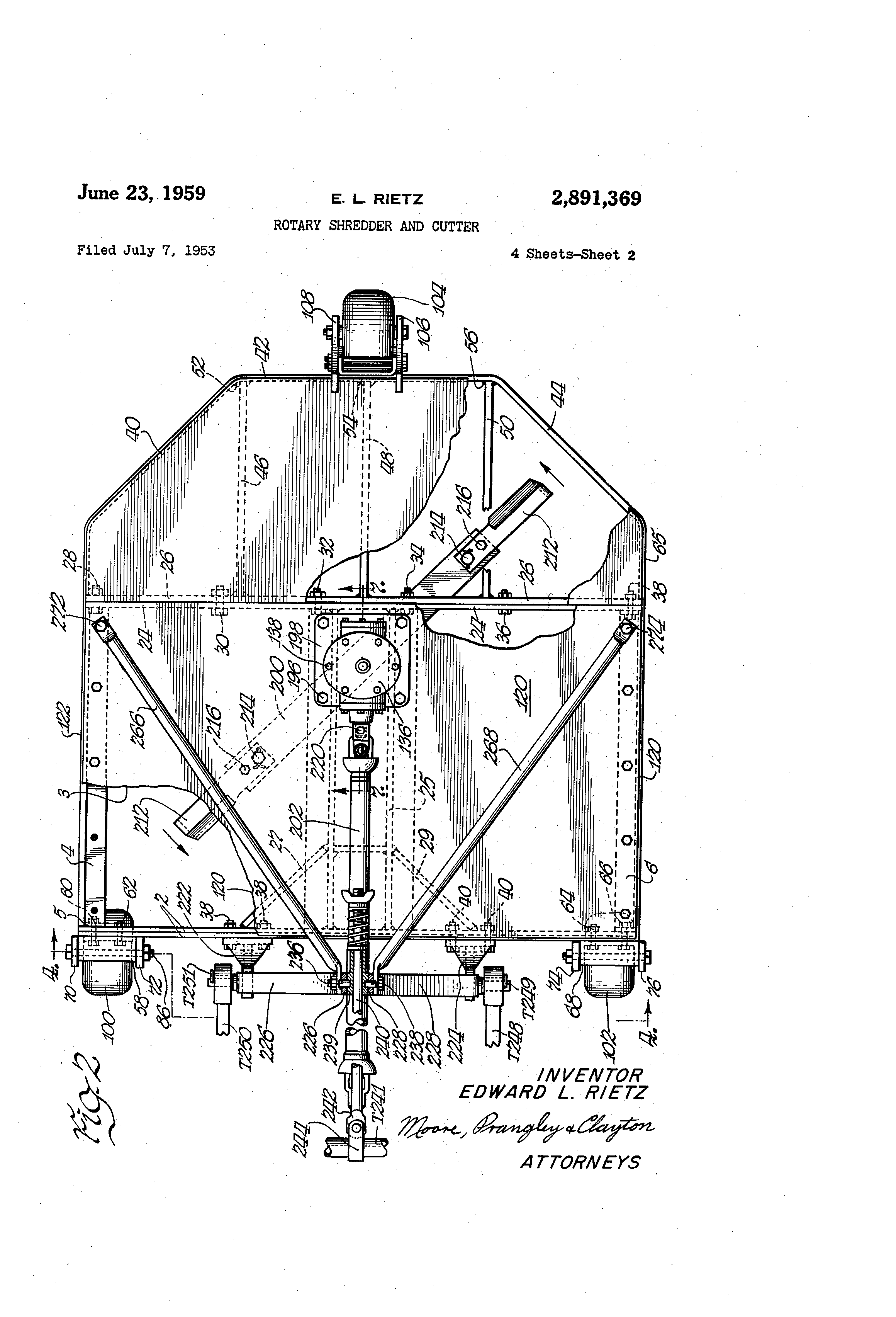 US2891369 1 patent us2891369 rotary shredder and cutter google patents  at reclaimingppi.co