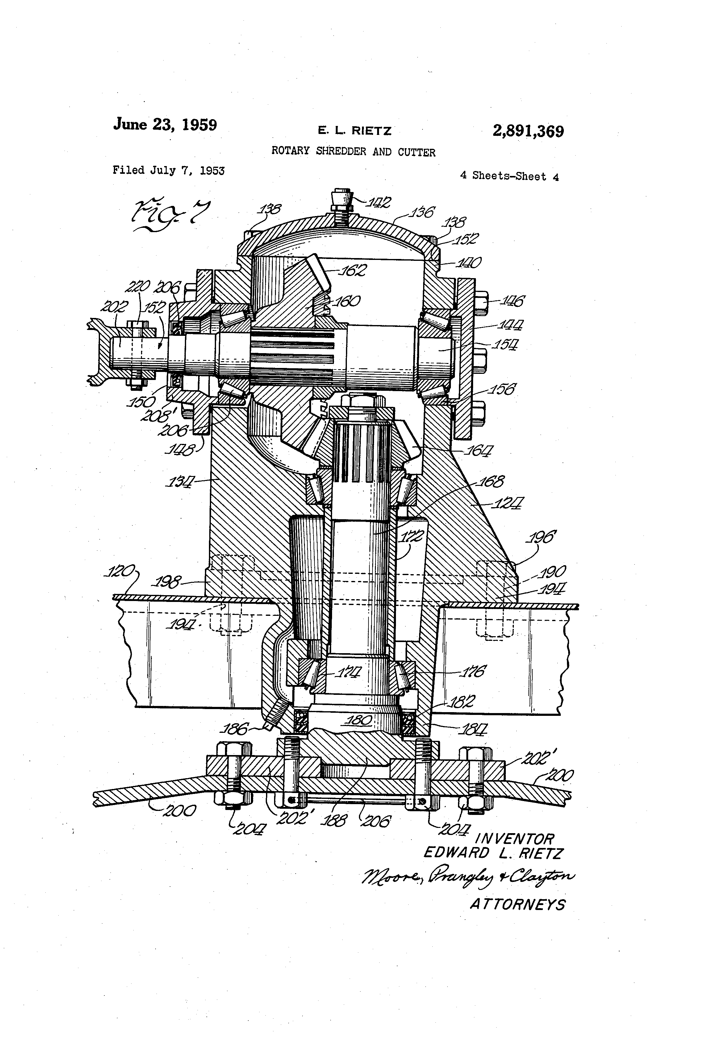 US2891369 3 patent us2891369 rotary shredder and cutter google patents  at reclaimingppi.co