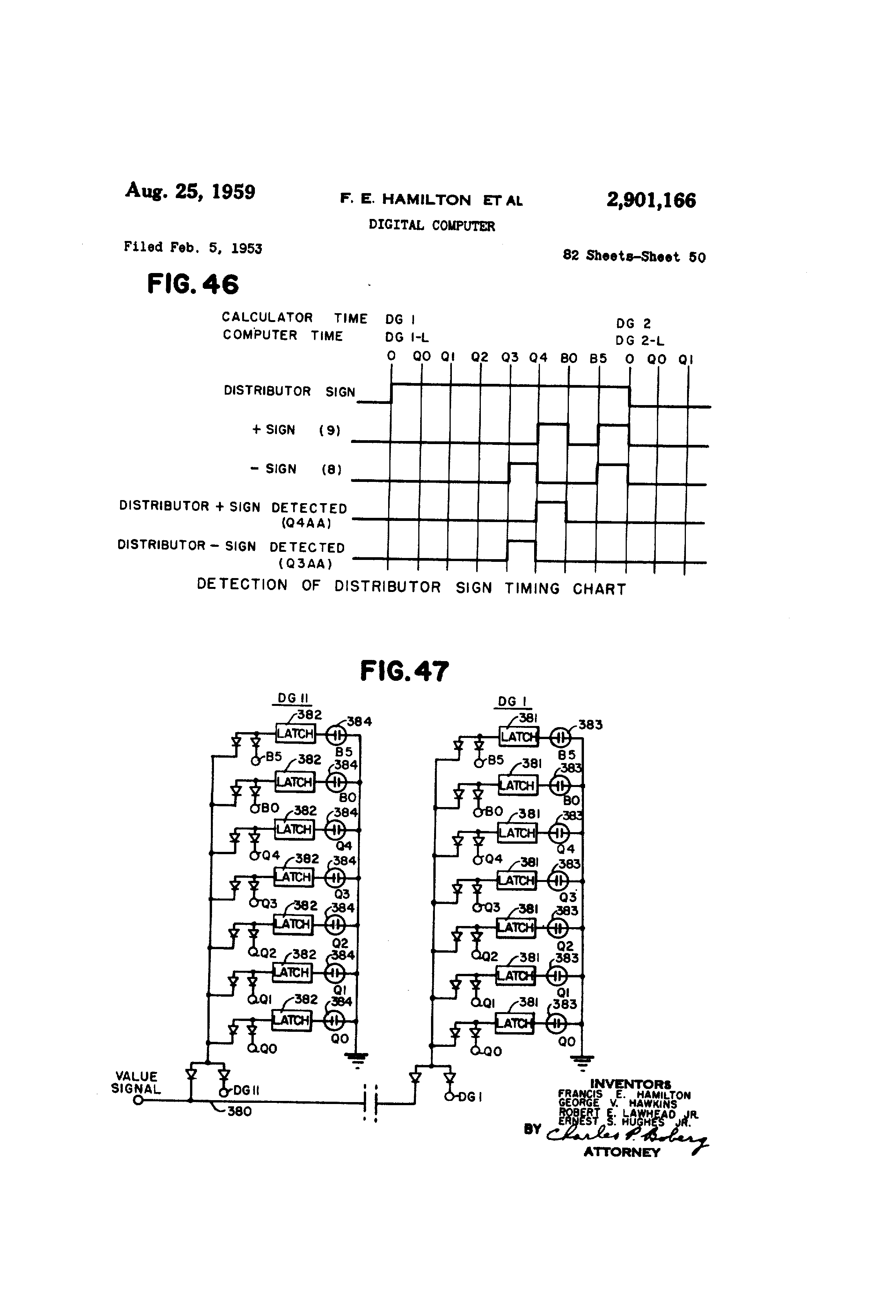 patent us2901166 - digital computer
