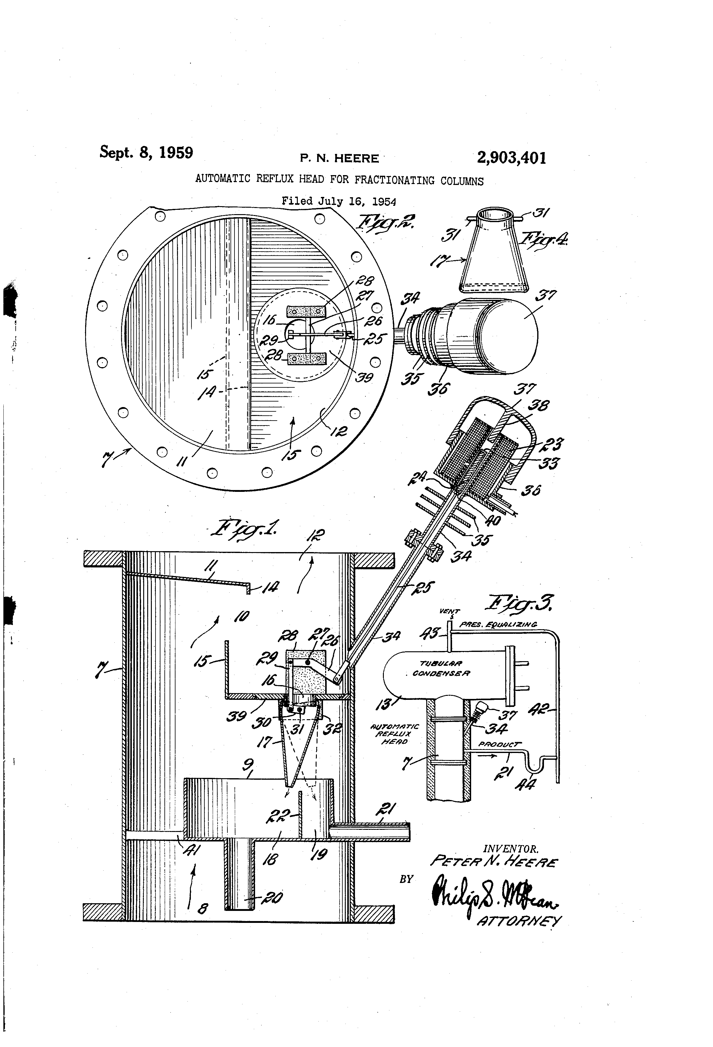 US2903401 0 patent us2903401 automatic reflux head for fractionating columns  at crackthecode.co