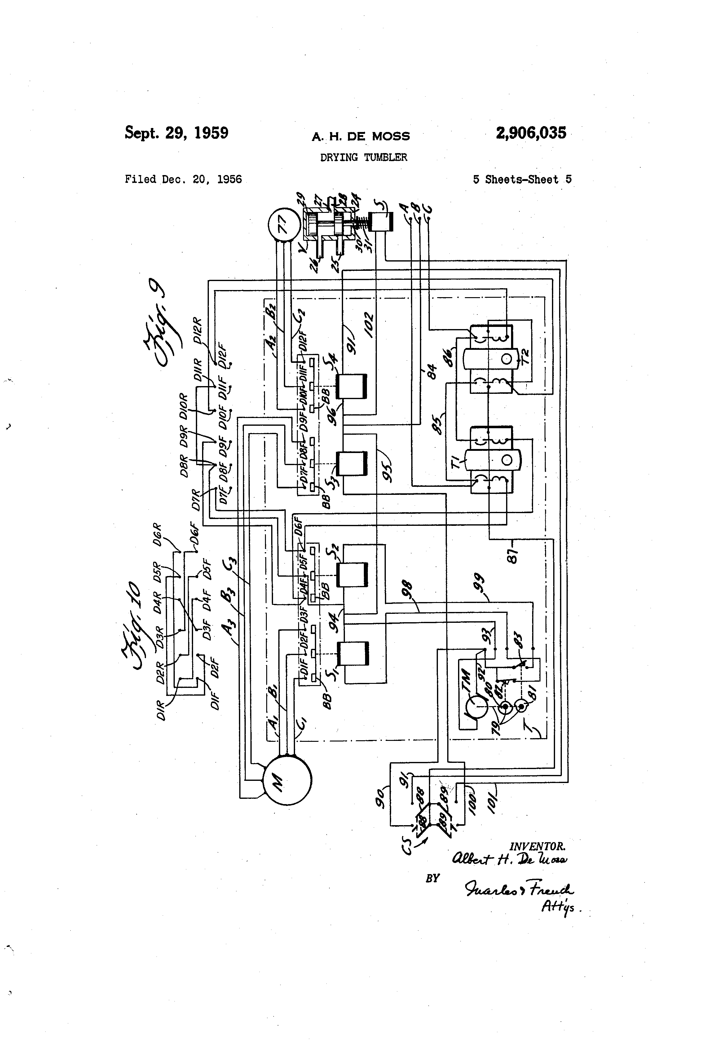 patent us2906035 - drying tumbler