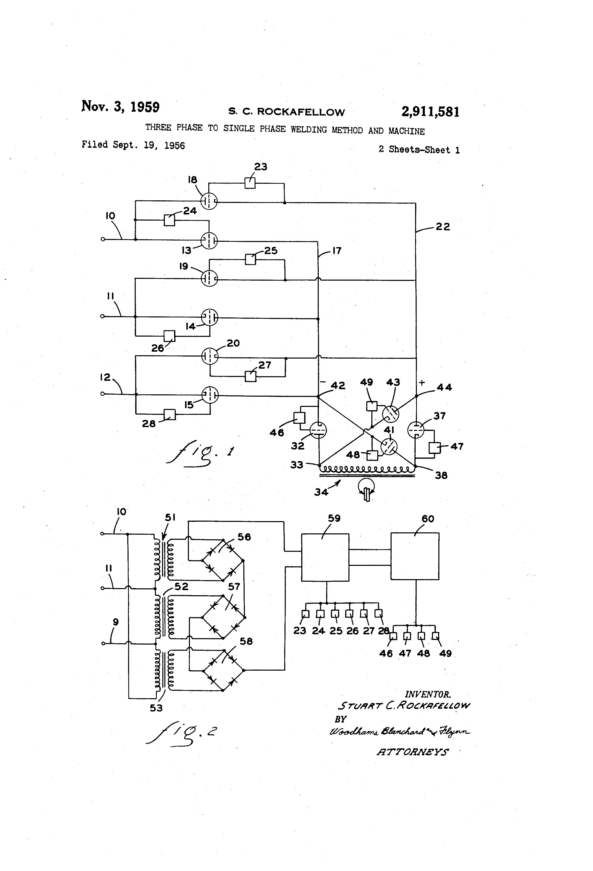 Welding Transformer Winding Diagram Trusted Schematics Machine Patent Us2911581 Three Phase To Single Method And Wind Generator