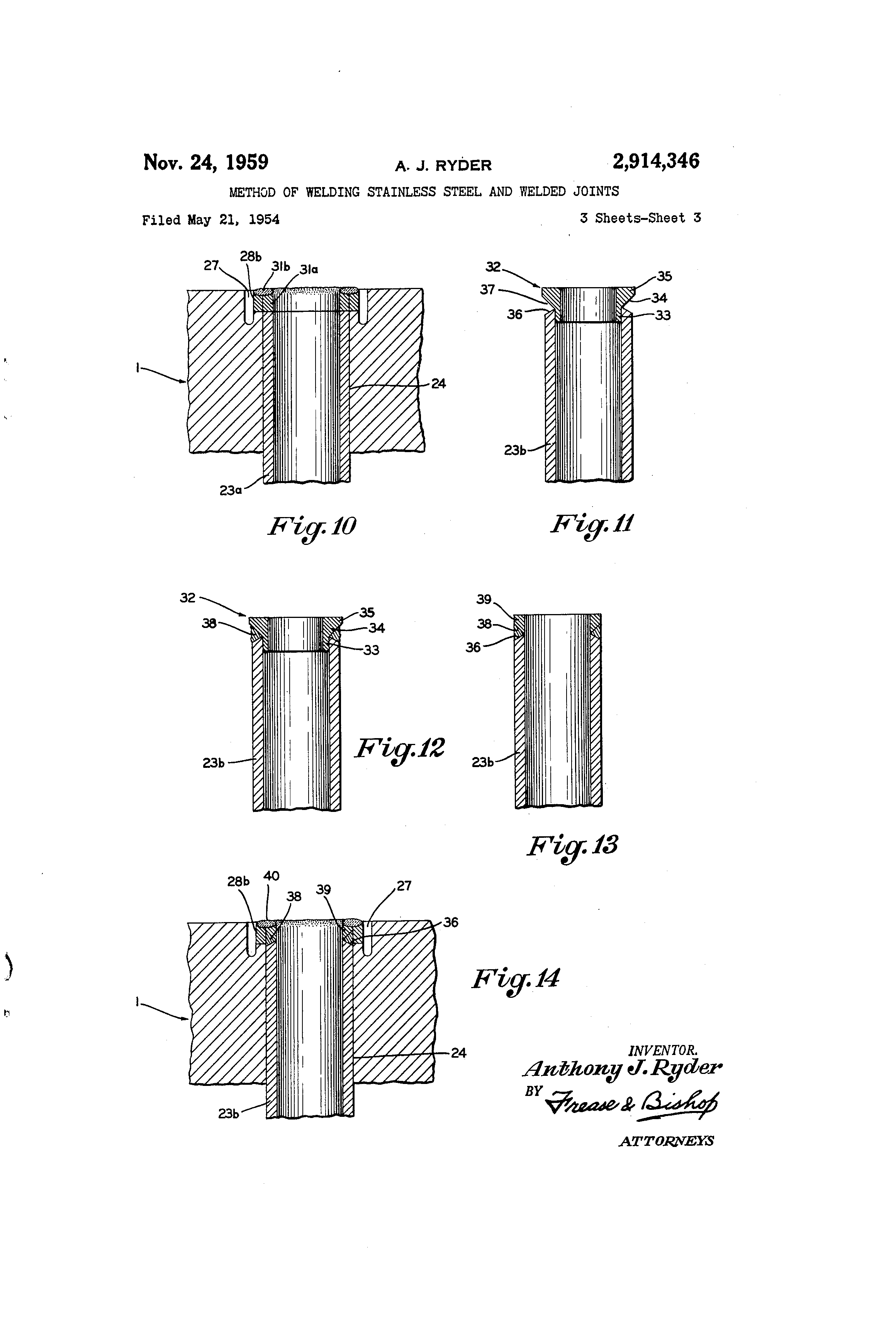 Patent Us2914346 Method Of Welding Stainless Steel And