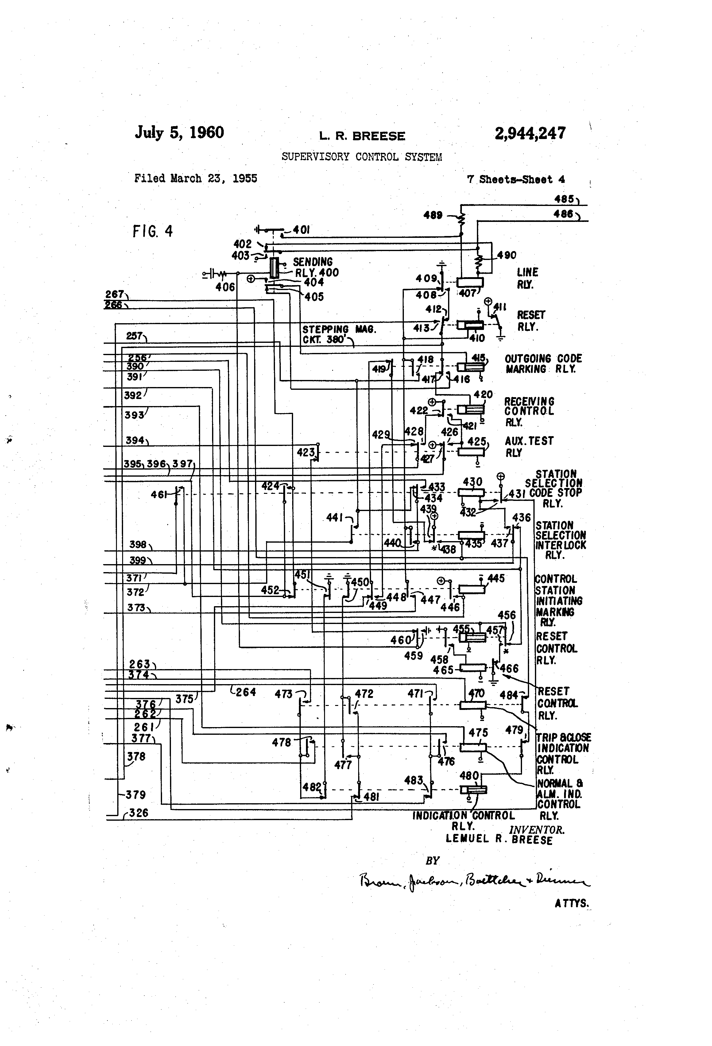 US2944247 3 patent us2944247 supervisory control system google patents  at crackthecode.co