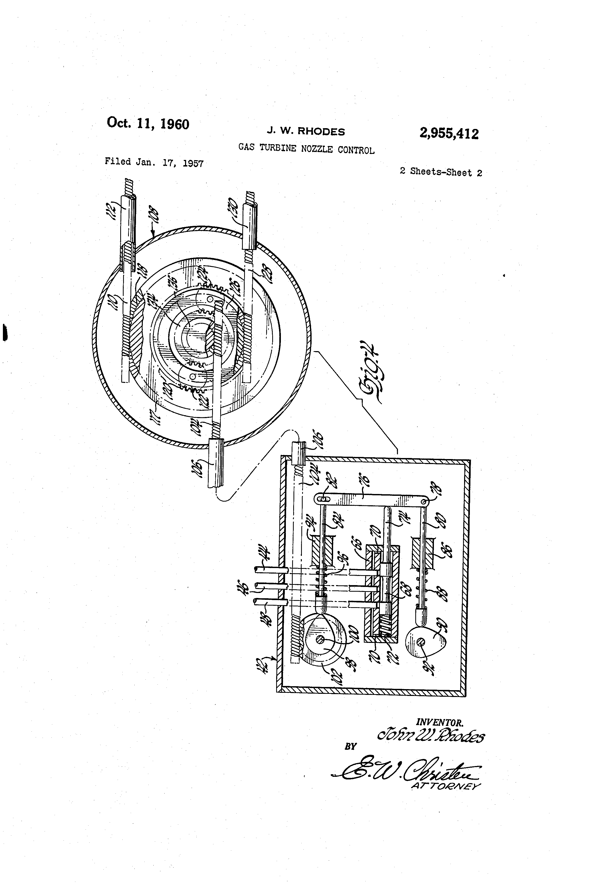 Patent US Gas turbine nozzle control Google Patents