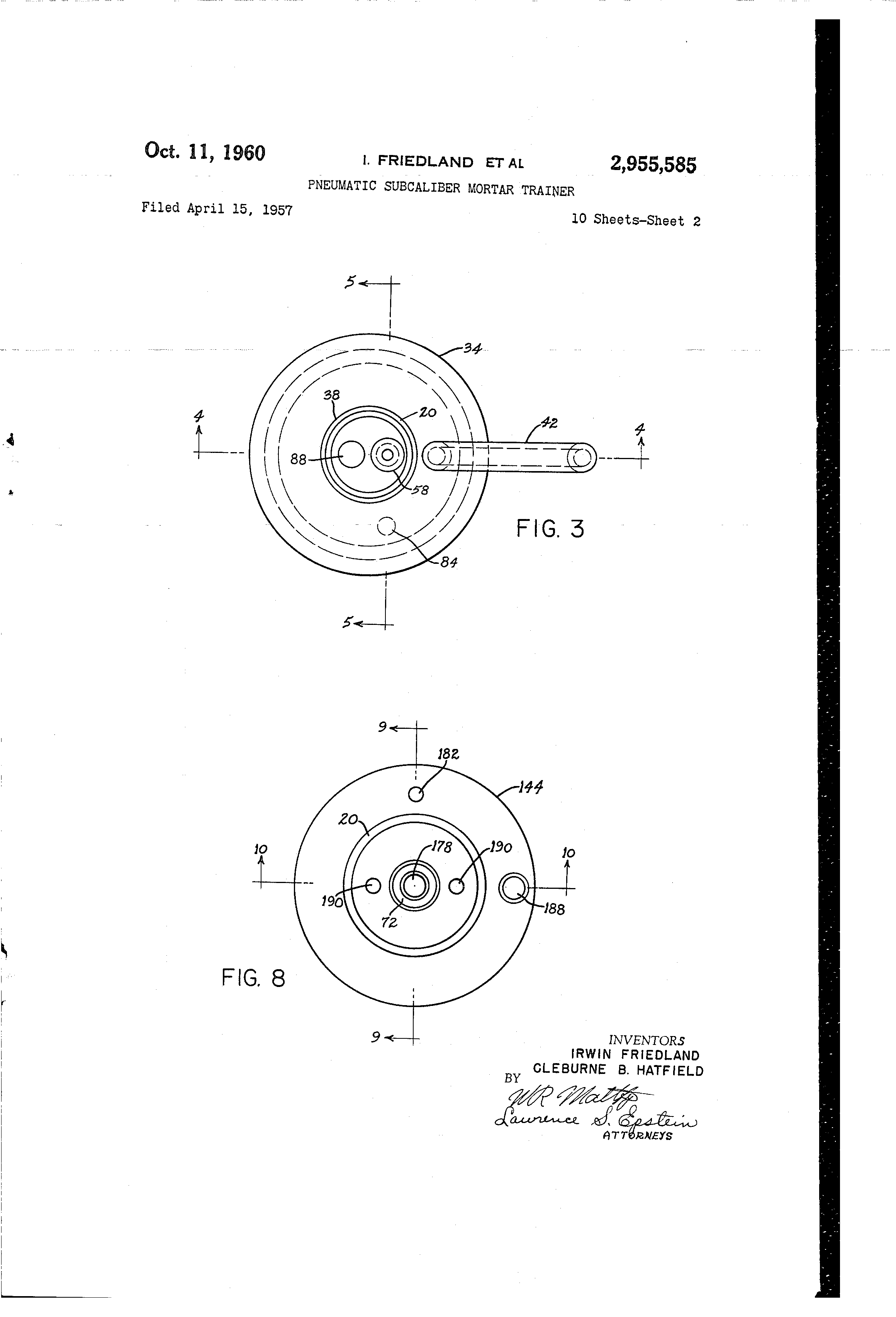 US2955585 1 patent us2955585 pneumatic subcaliber mortar trainer google friedland type 4 wiring diagram at crackthecode.co