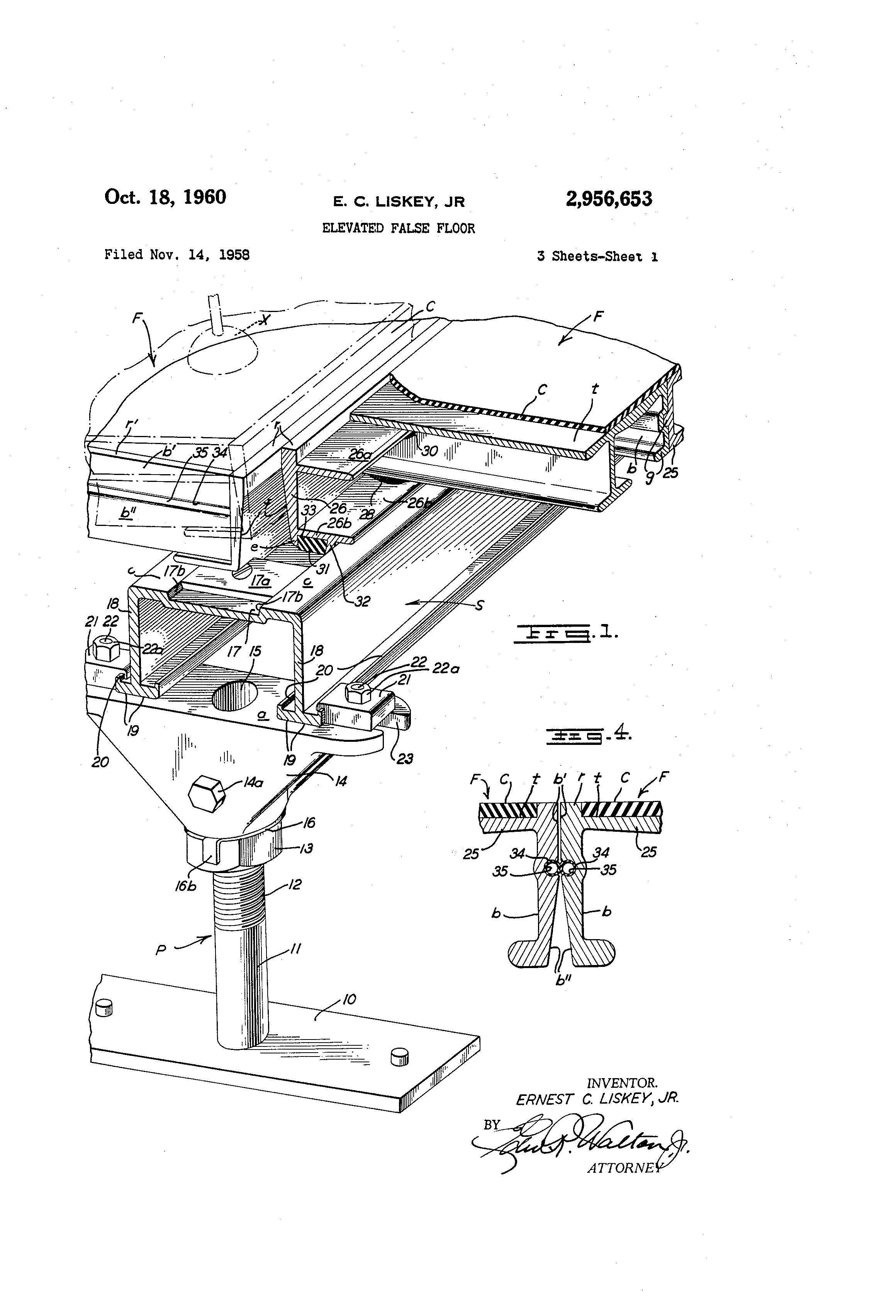 Floor Elevation False : Patent us elevated false floor google patents