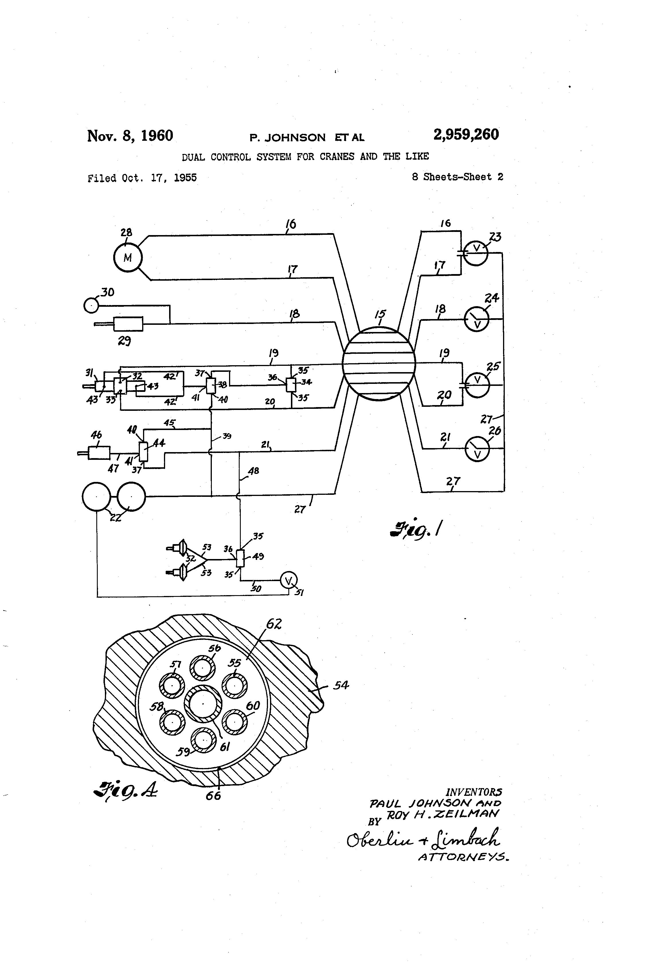 US2959260 1 patent us2959260 dual control system for cranes and the like zing ear ze 208s wiring diagram at cos-gaming.co