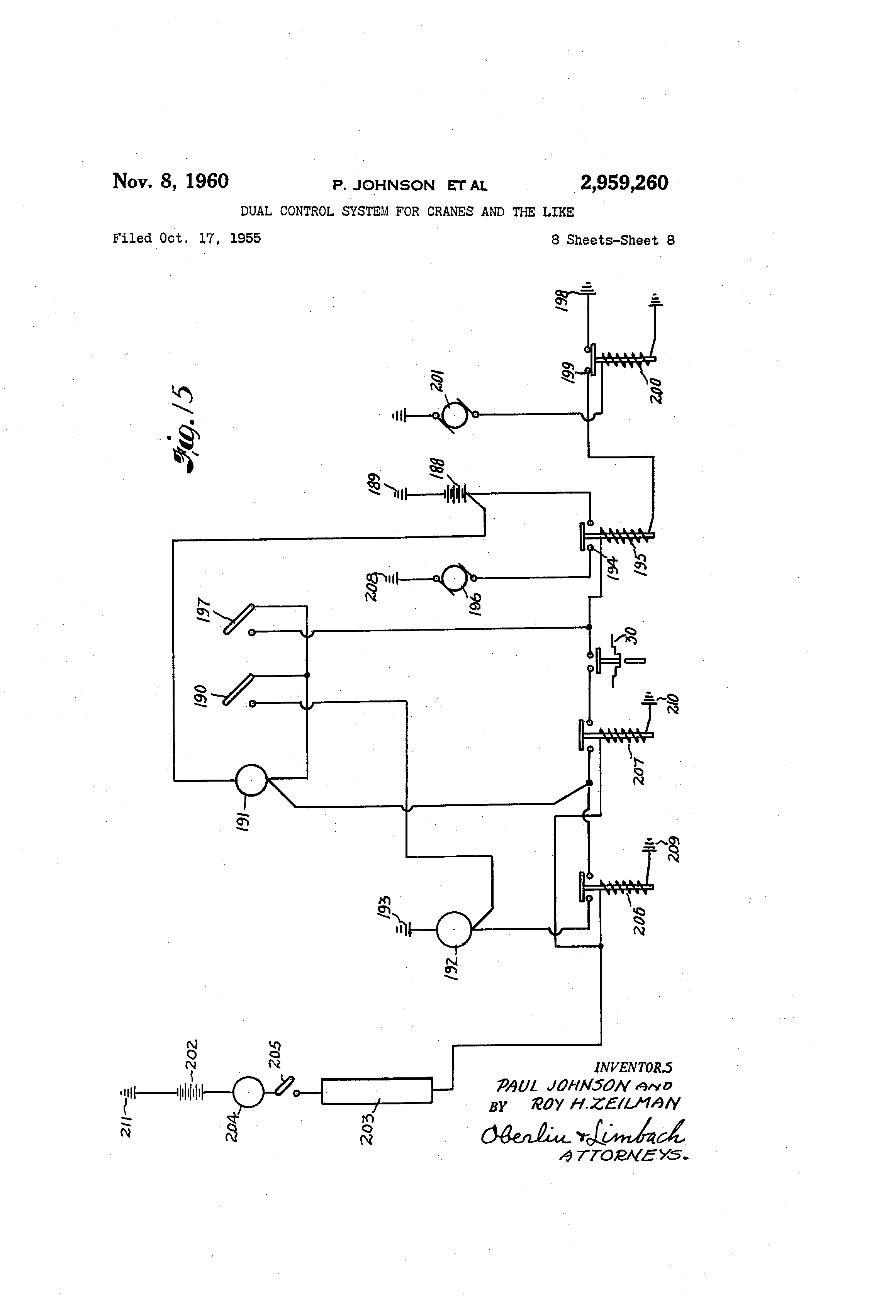 US2959260 7 patent us2959260 dual control system for cranes and the like zing ear ze 208s wiring diagram at cos-gaming.co