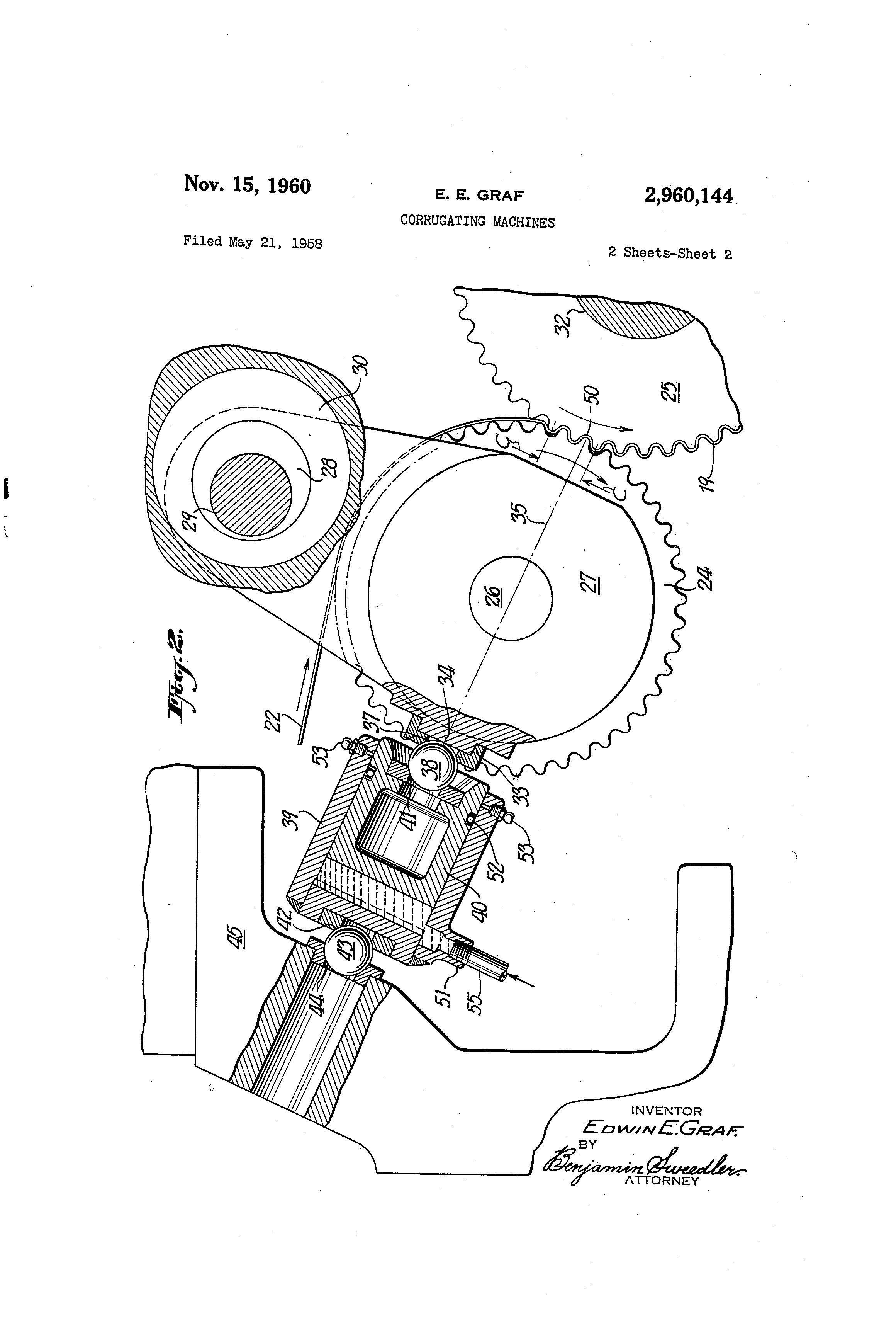 Patent US2960144 - Corrugating machines - Google Patents