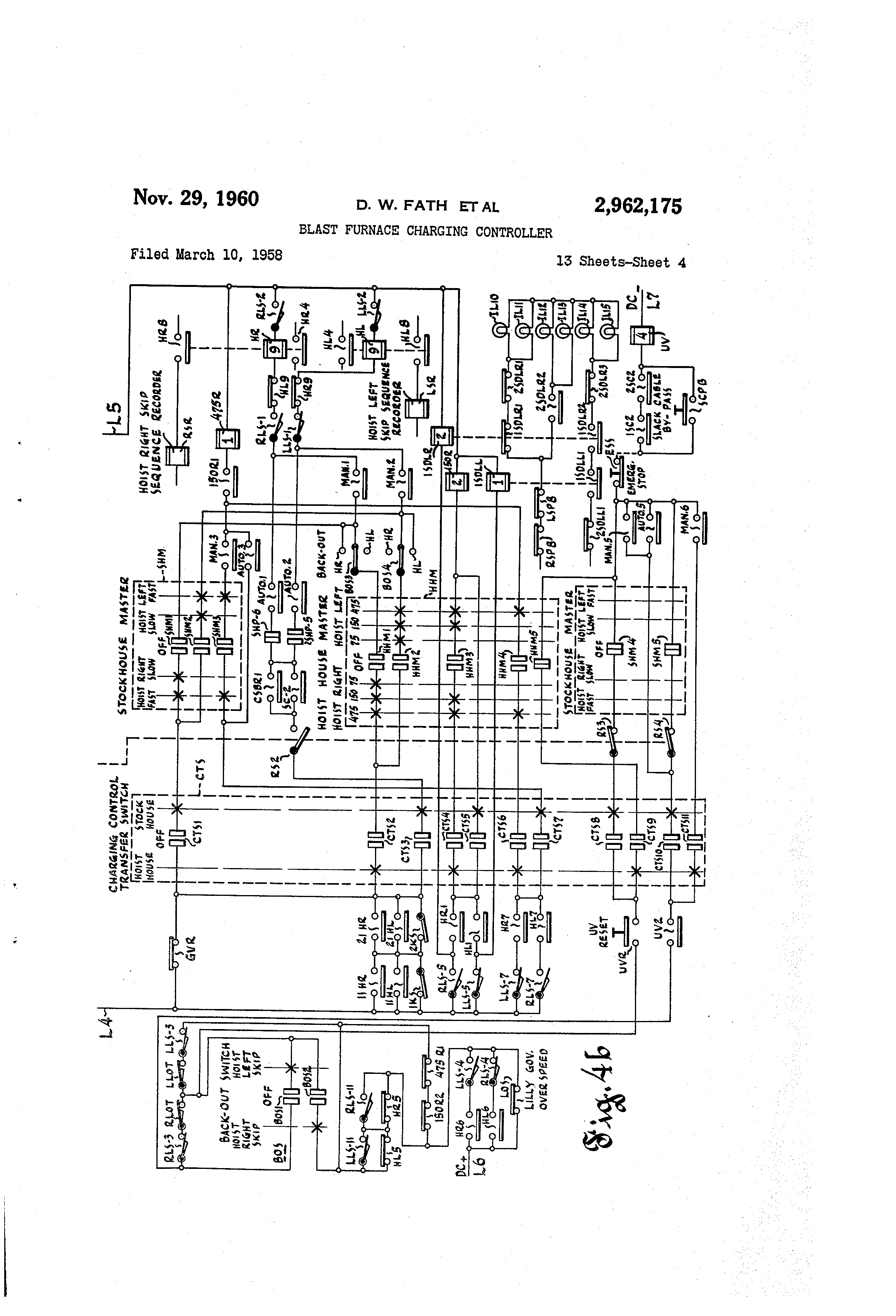 1966 Grand Prix Wiring Diagram Free Download Trusted Diagrams 1967 Pontiac Picture Patent Us2962175 Blast Furnace Charging Controller Google Patents G6