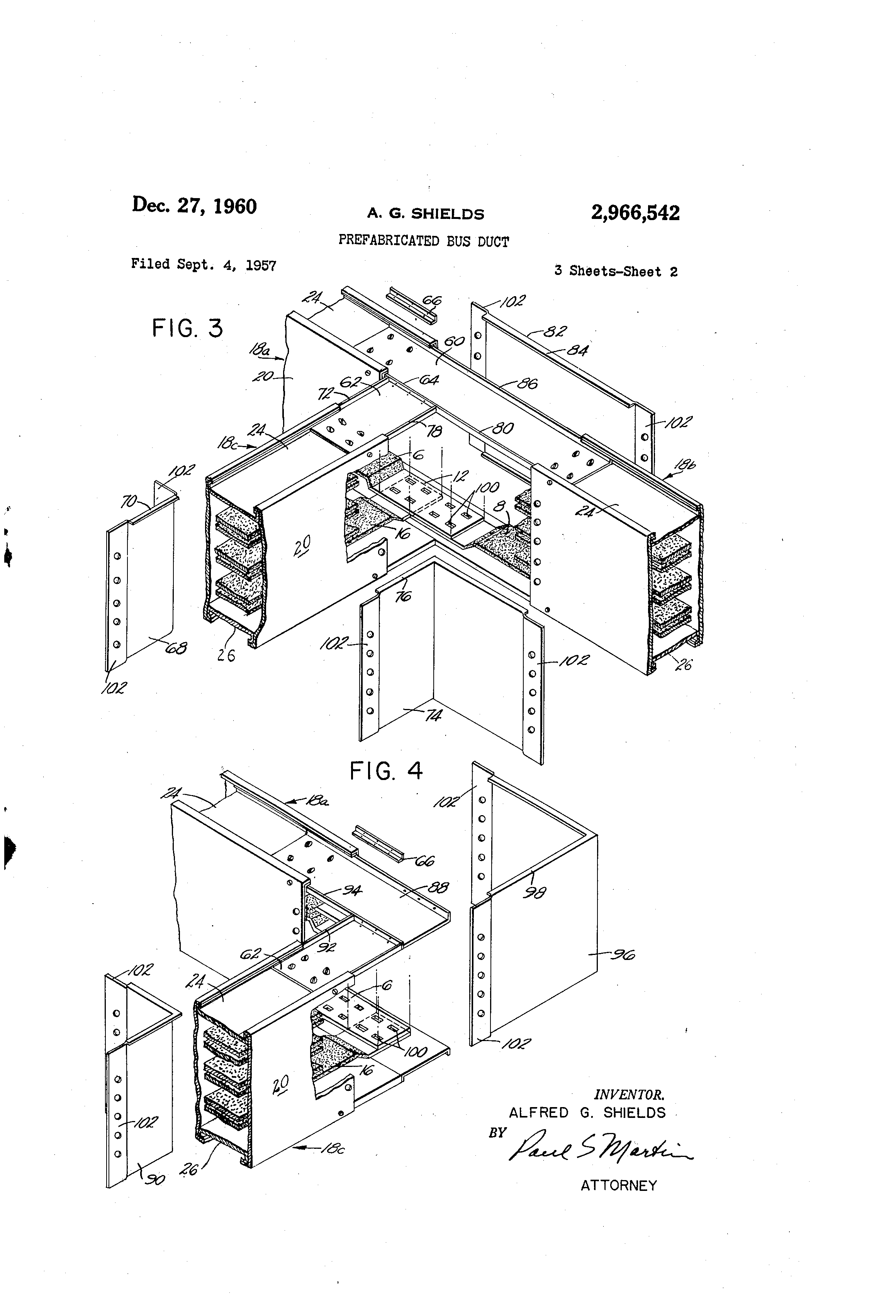 Patent Us2966542 Prefabricated Bus Duct Google Patents