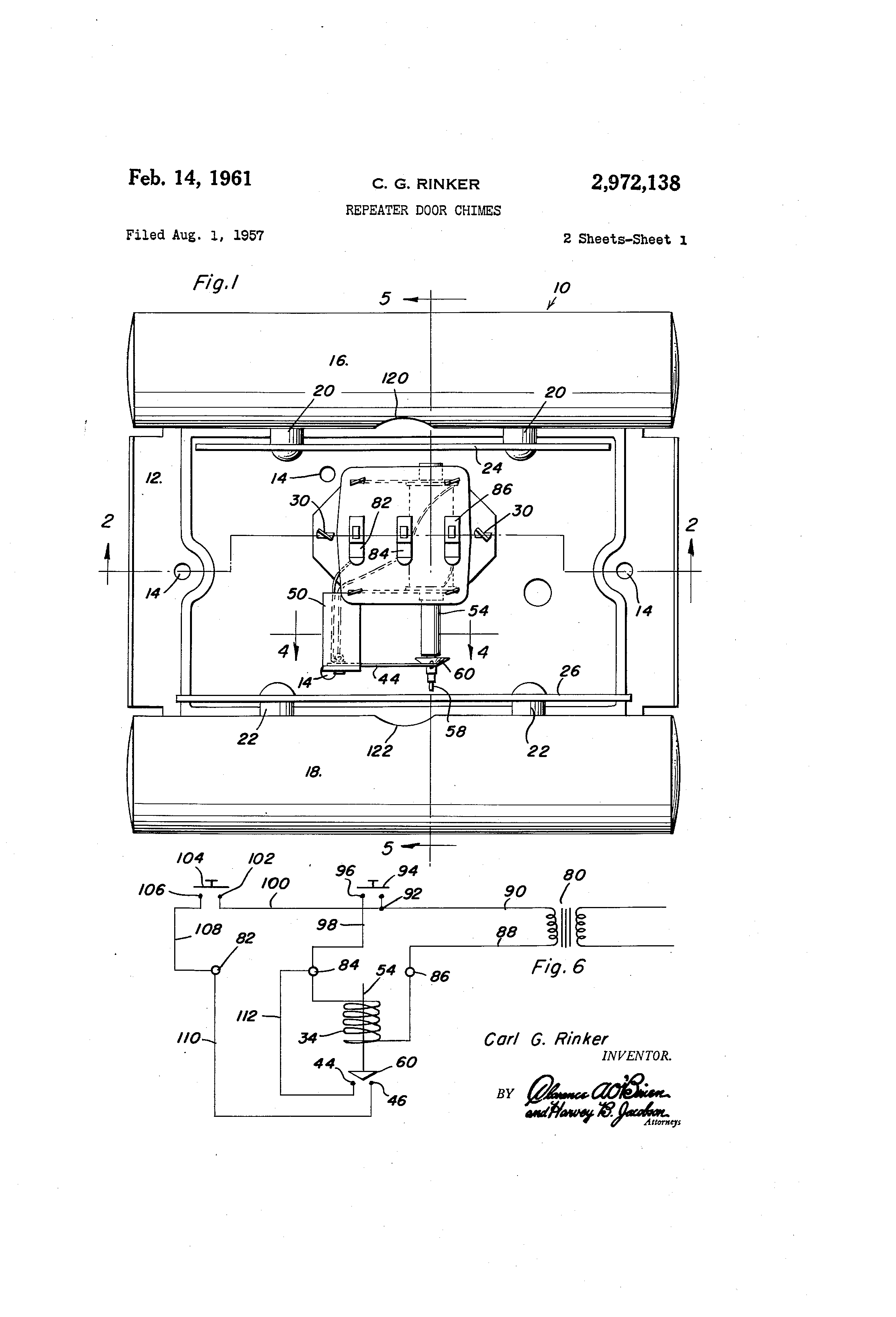 US2972138 0 patent us2972138 repeater door chimes google patents rittenhouse doorbell wiring diagram at reclaimingppi.co