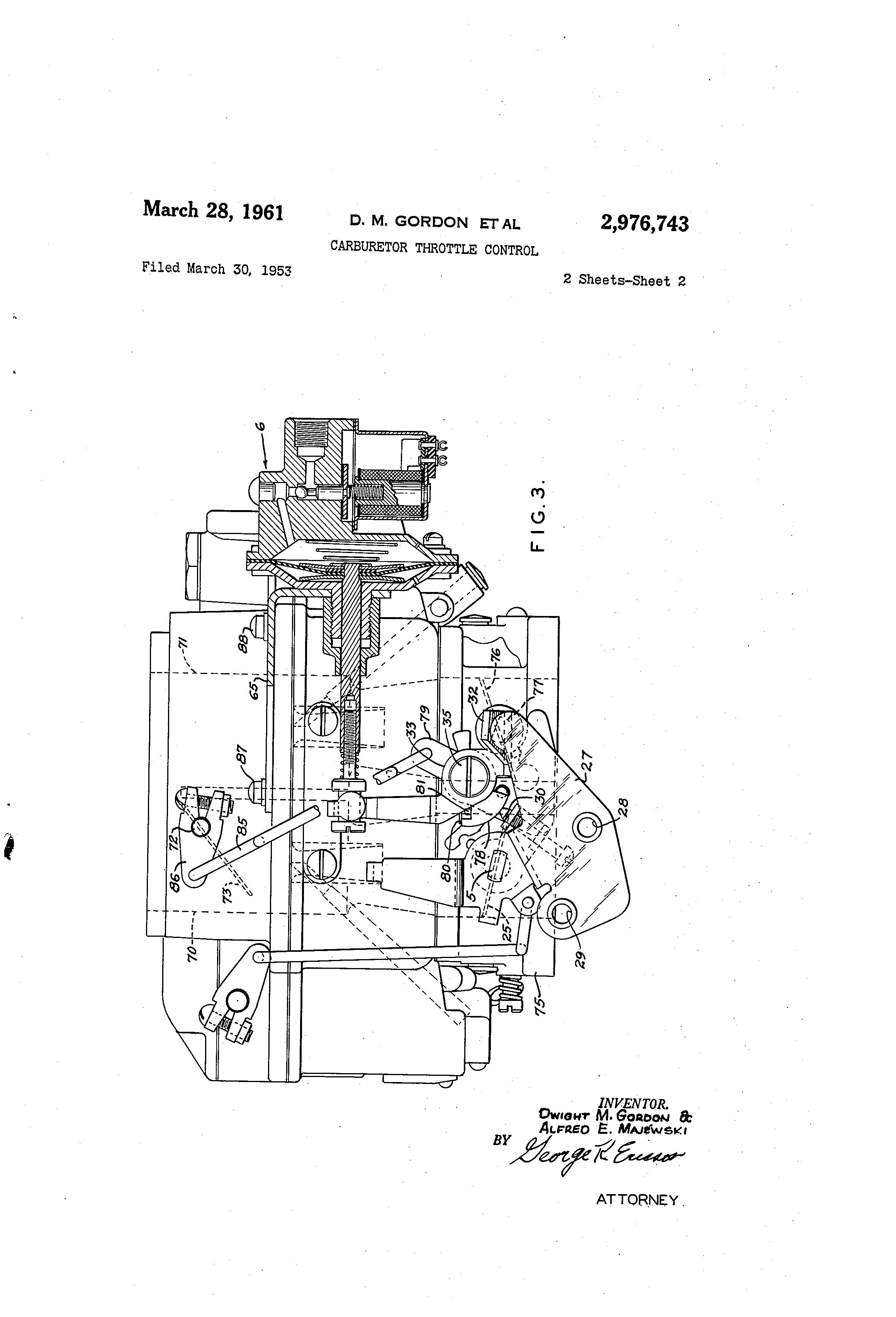 Patent US2976743 - Carburetor throttle control - Google Patents