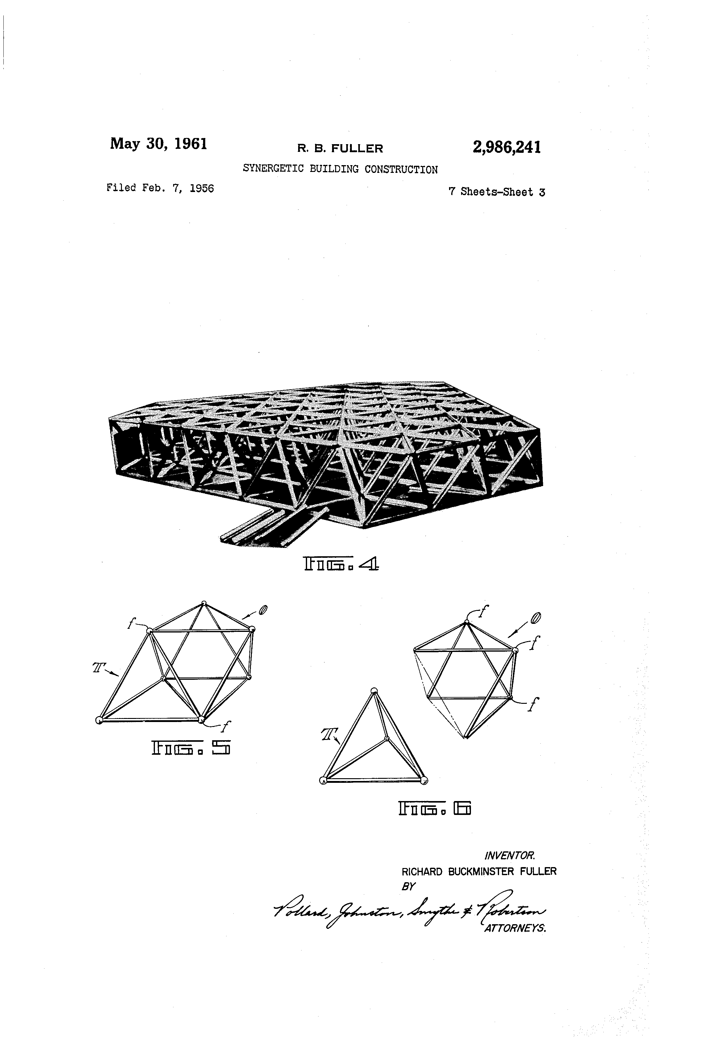 Octet Truss from Bucky's 1961 patent