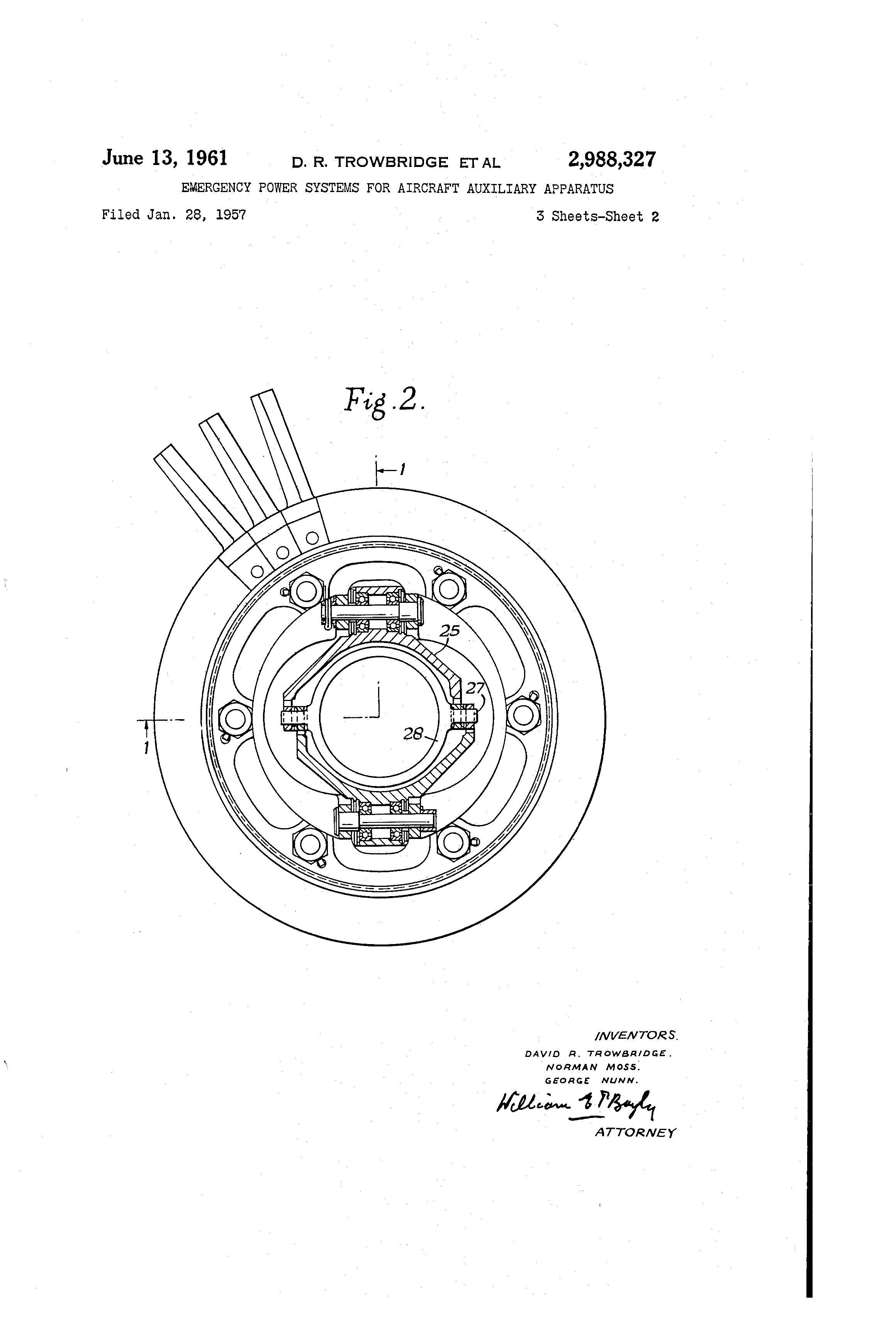 Patent US Emergency power systems for aircraft auxiliary