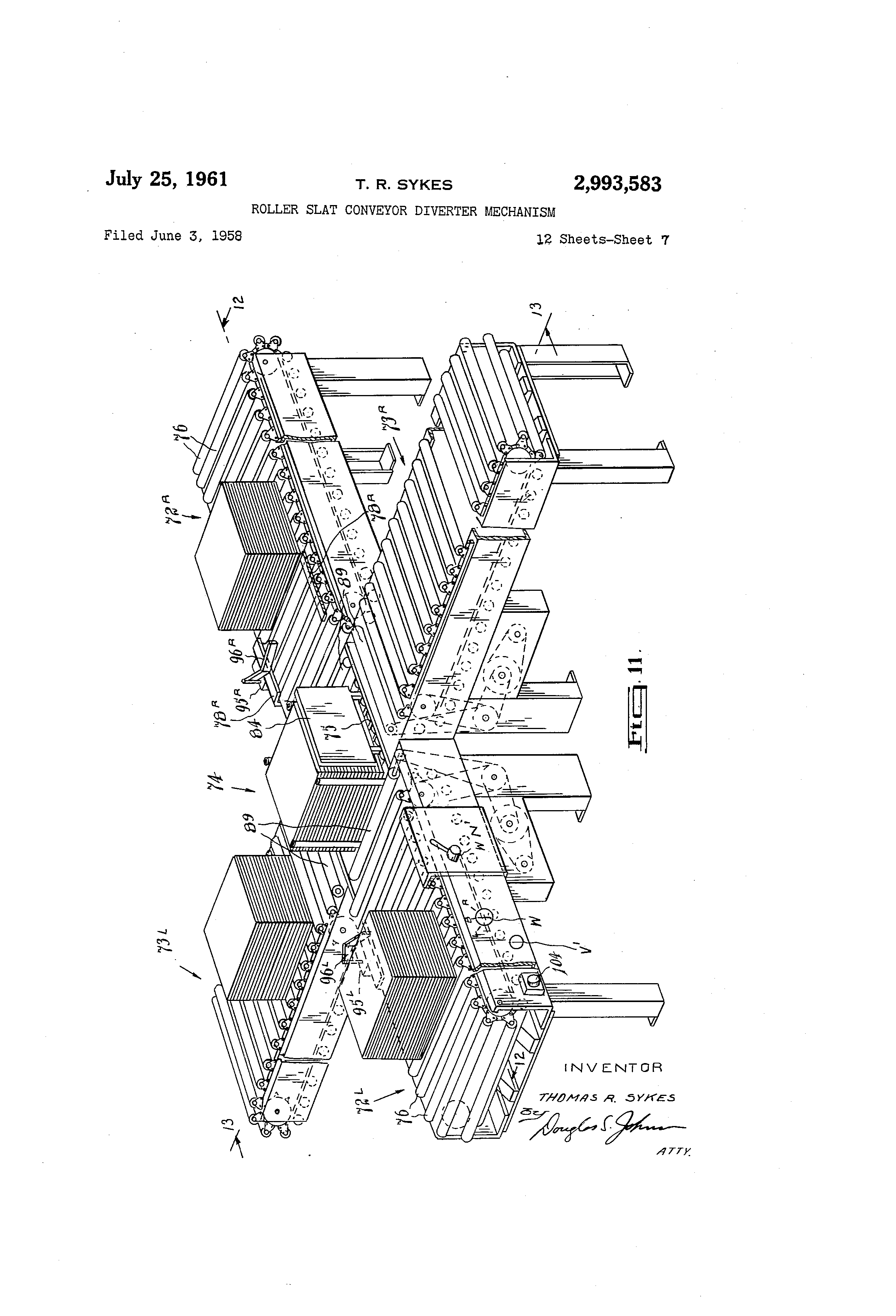 patent us2993583