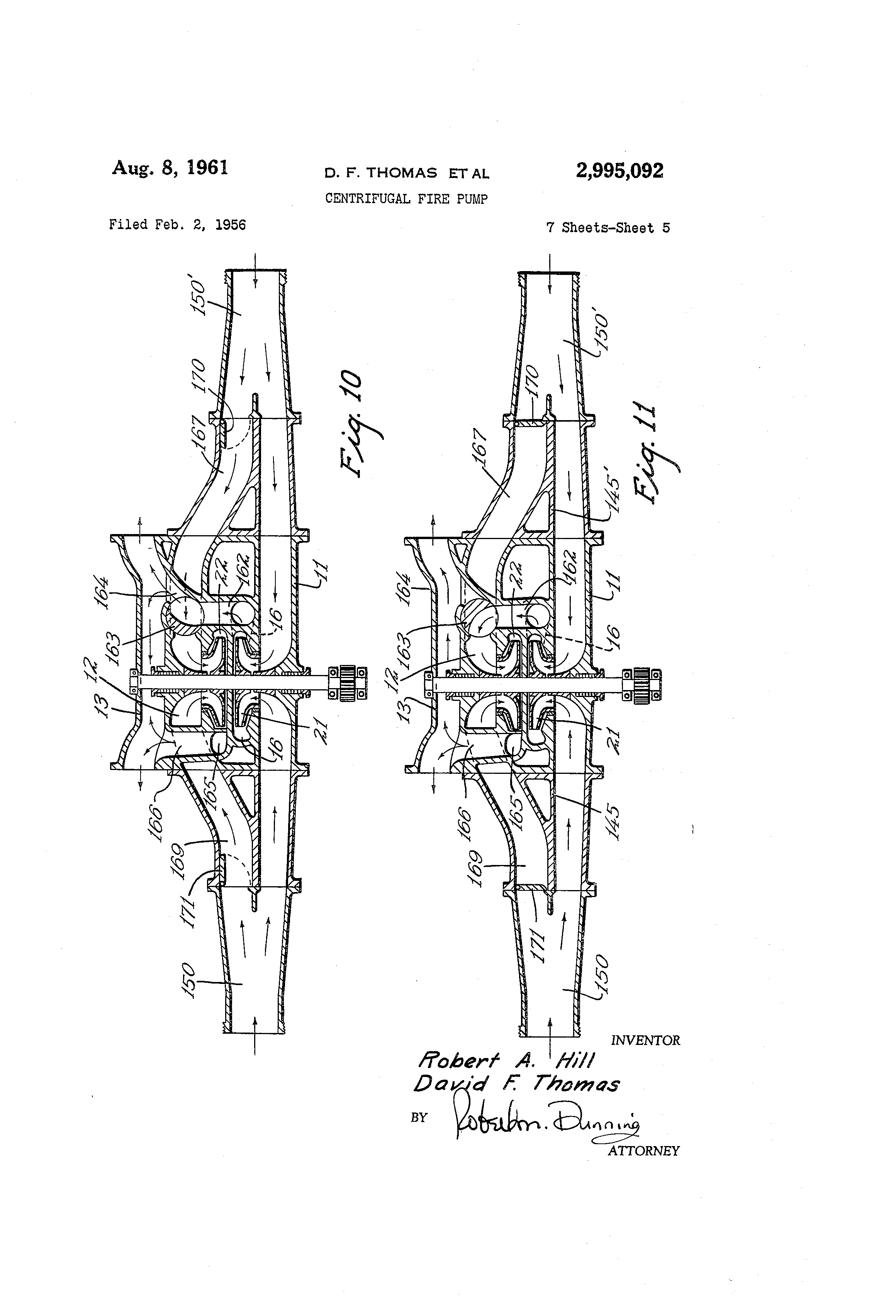 Patent Us2995092 - Centrifugal Fire Pump