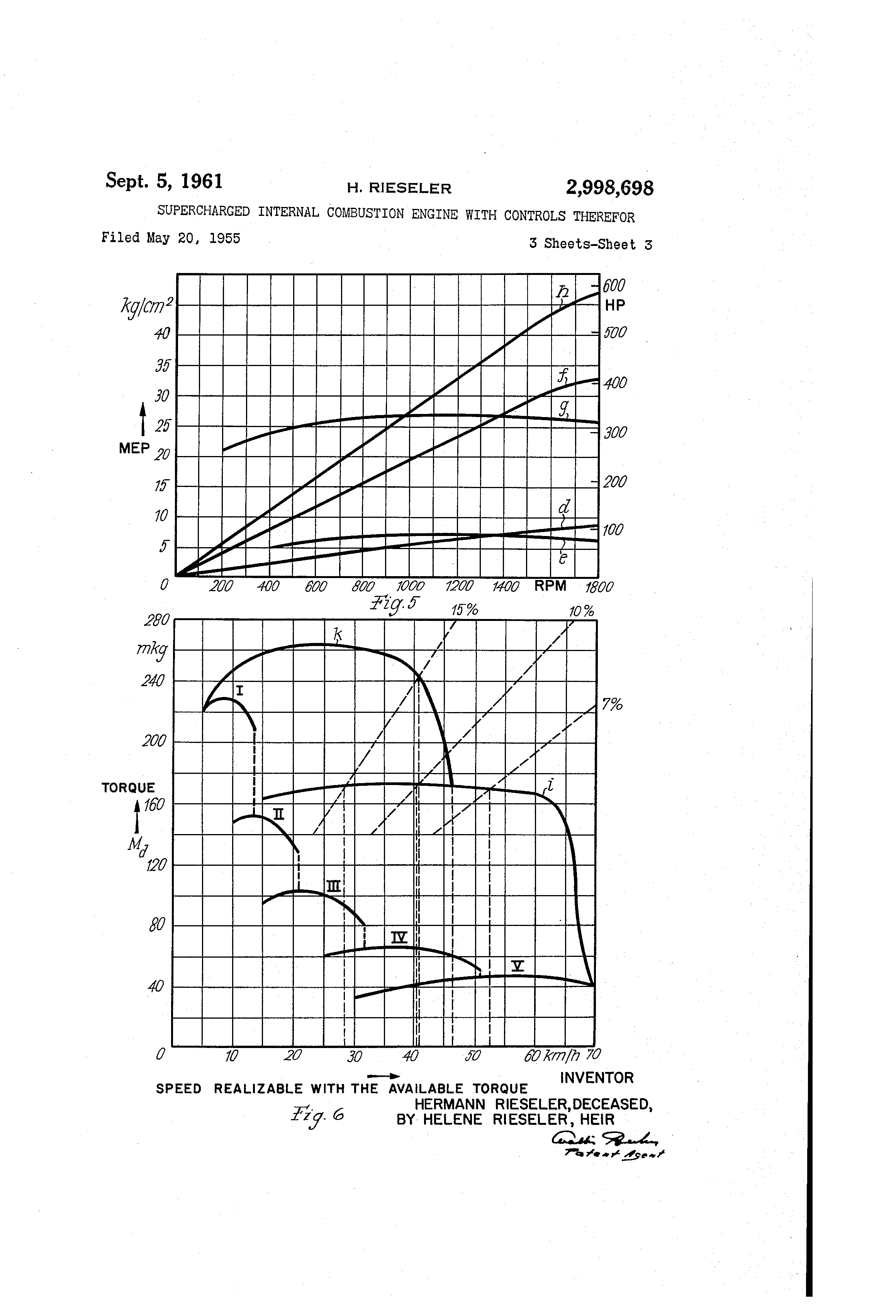 Patent Us2998698 Supercharged Internal Combustion Engine With Diagram Of A Show How Works Drawing