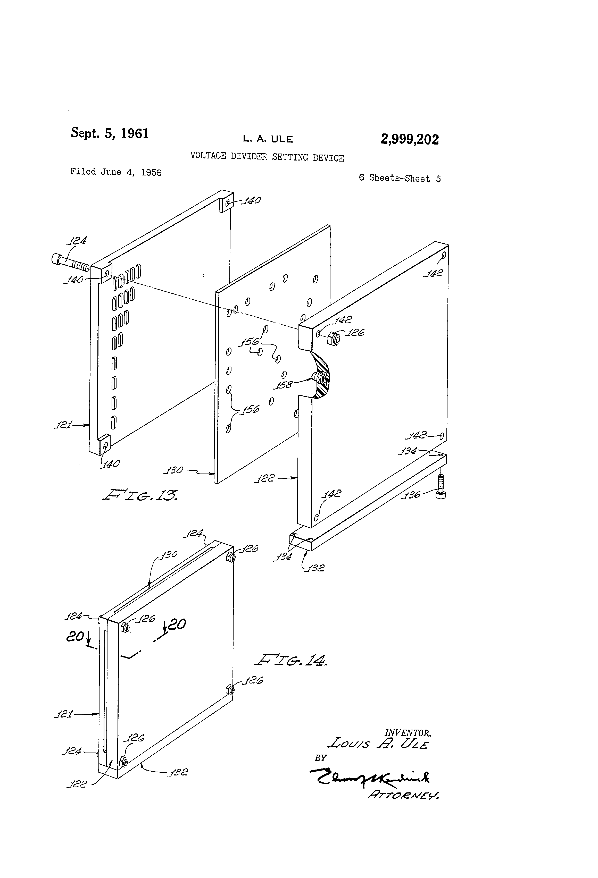 patent us2999202 - voltage divider setting device