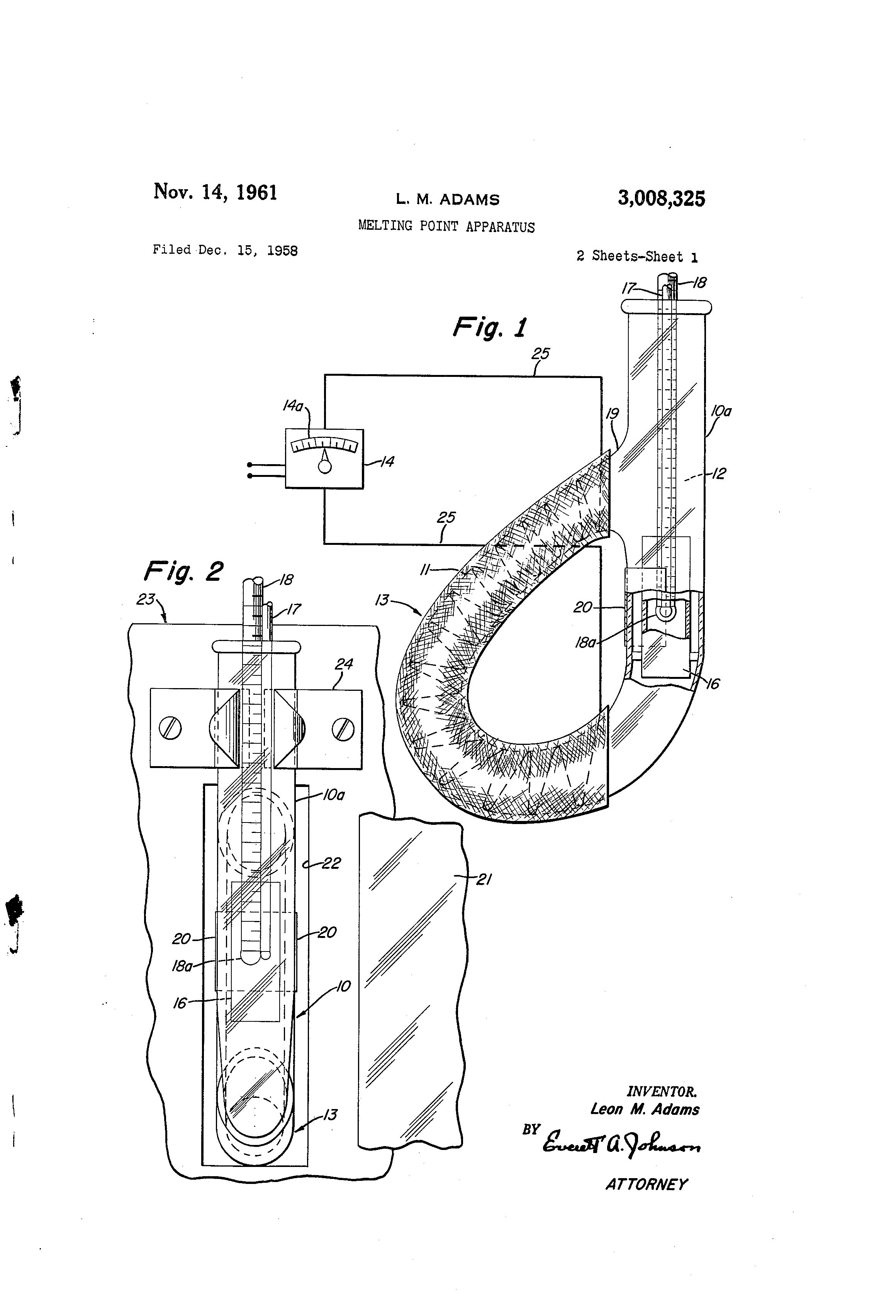 Patent US3008325 - Melting point apparatus - Google Patents