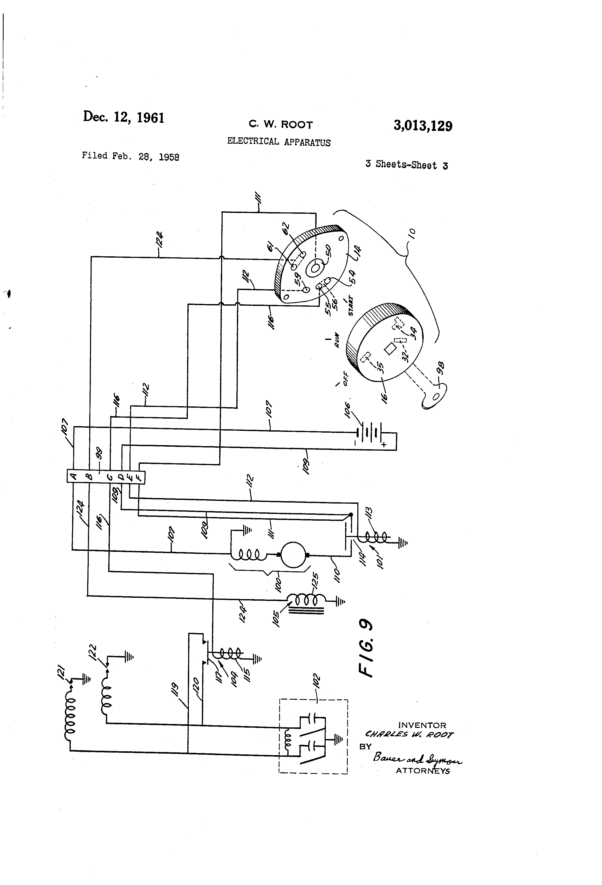 ... US3013129 2 patent us3013129 electrical apparatus google patents indak  switch wiring diagram at highcare.asia