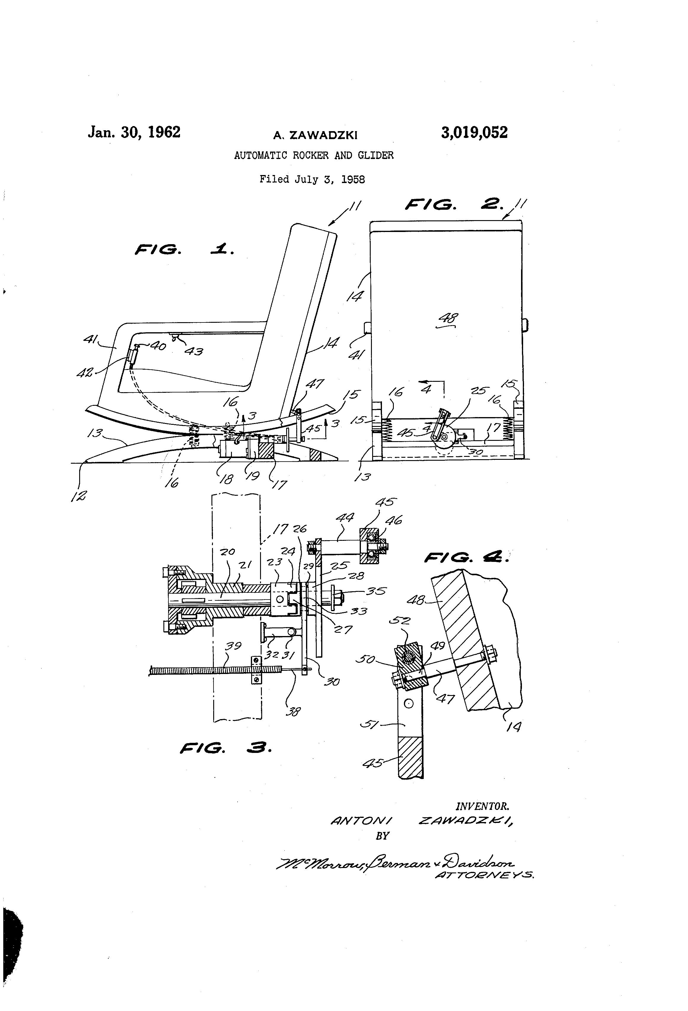 Patent US Automatic rocker and glider Google Patents