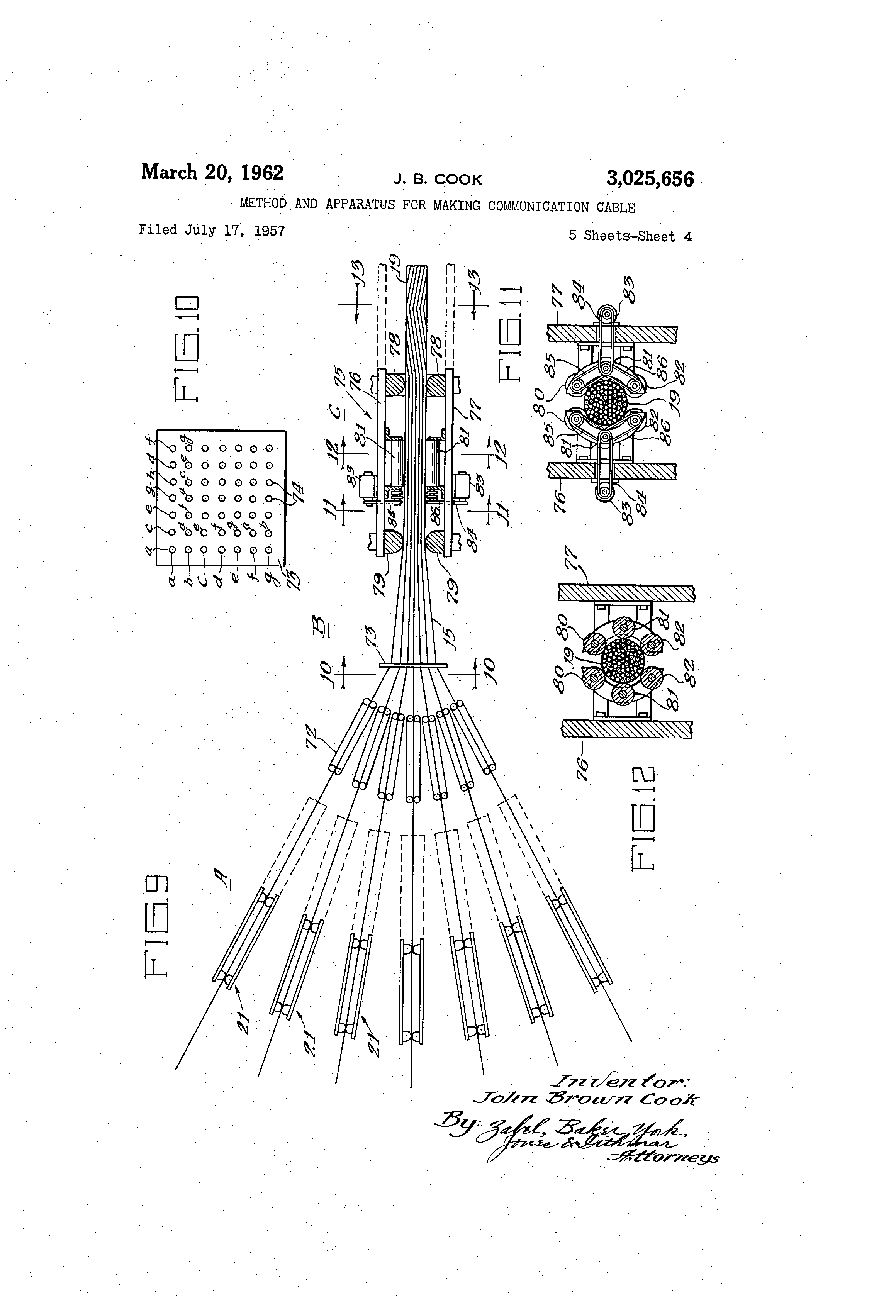 Apparatus And Method For Installing Cable : Patent us method and apparatus for making