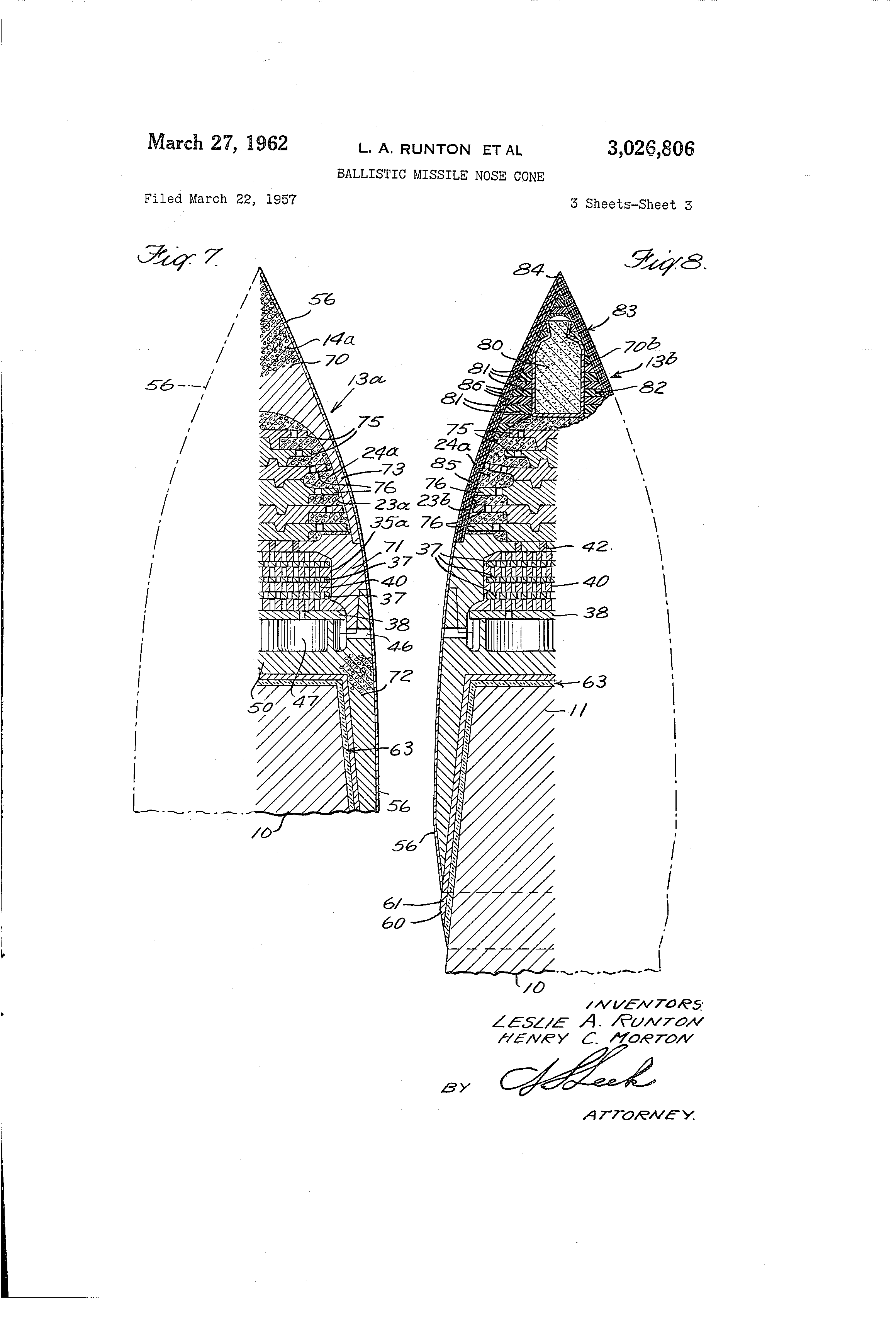 Missile Drawing Patent US302680...