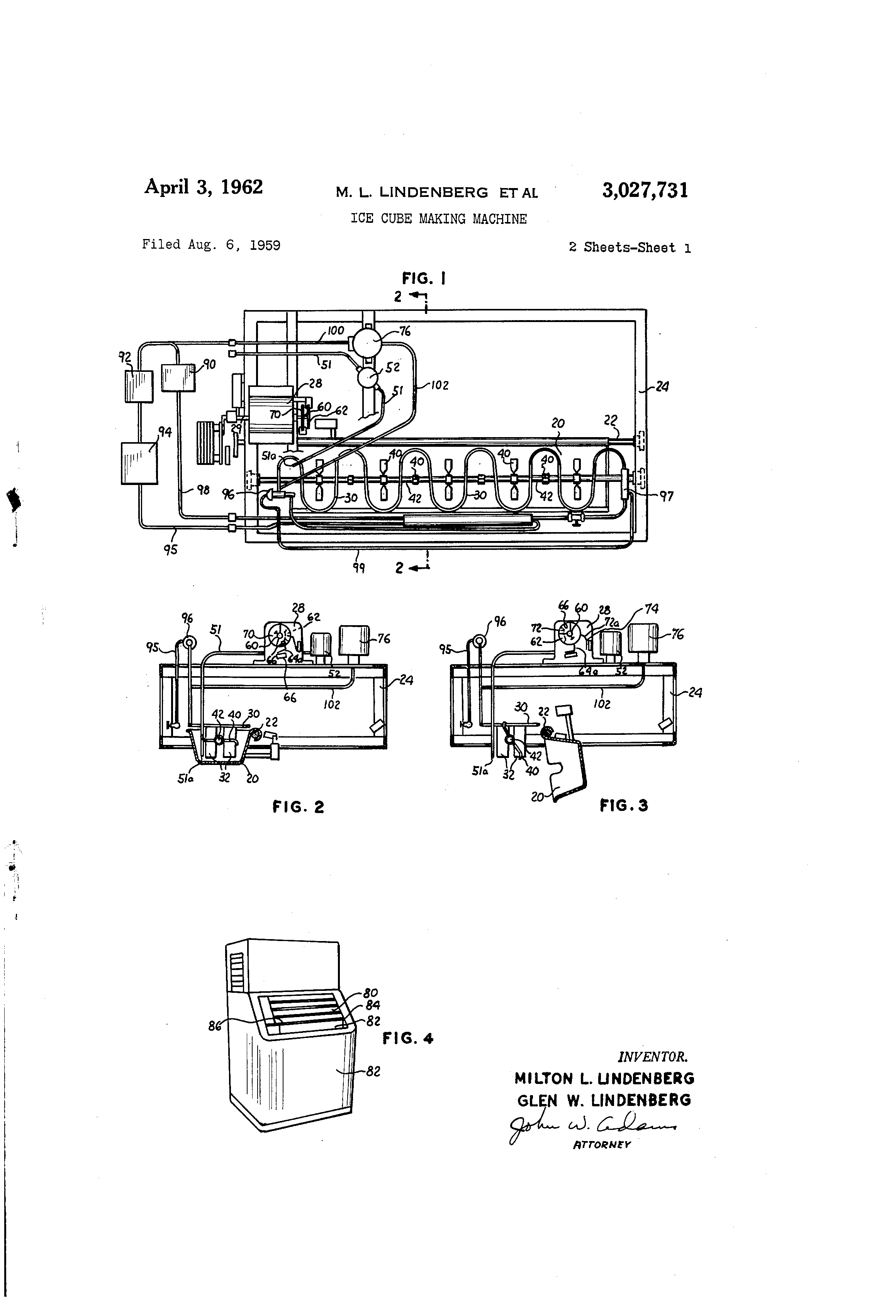 US3027731 0 patent us3027731 ice cube making machine google patentsuche brema ice maker wiring diagram at n-0.co